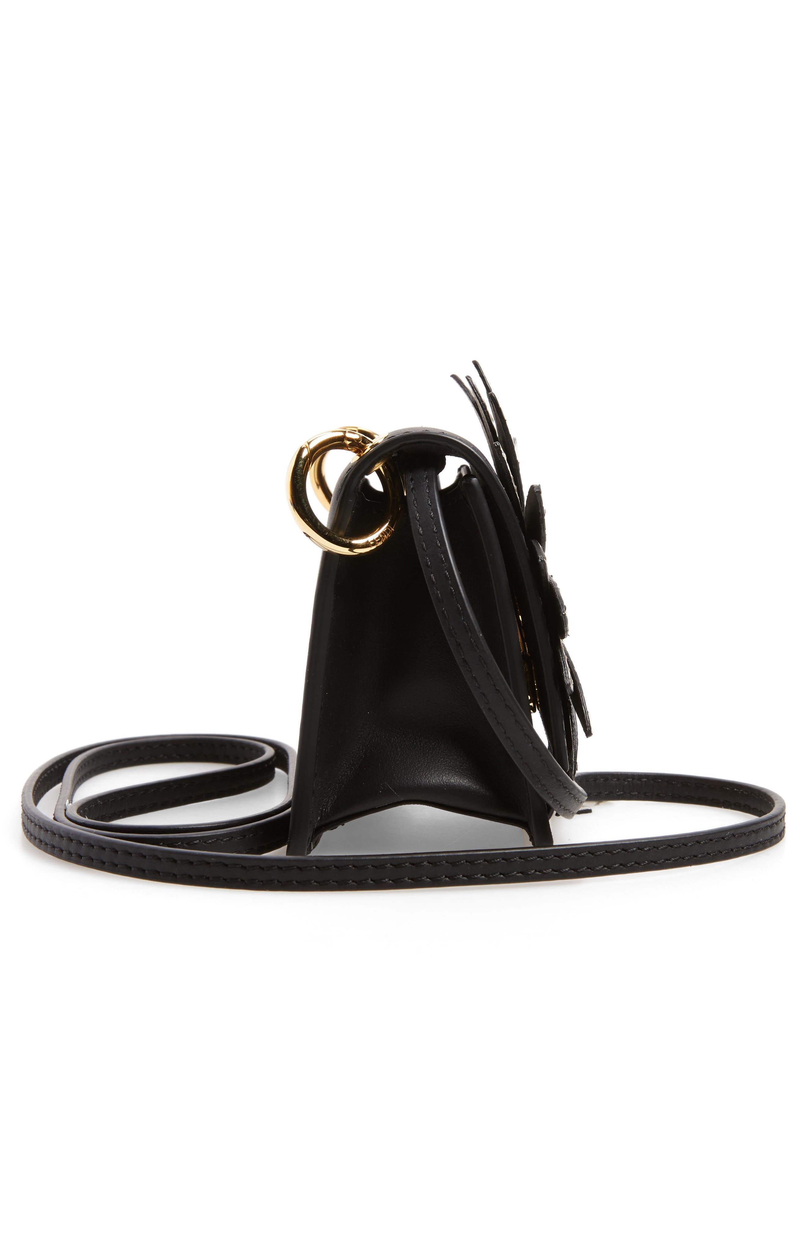 Mini Kan I Crossbody Bag with Genuine Python Trim,                             Alternate thumbnail 5, color,                             004