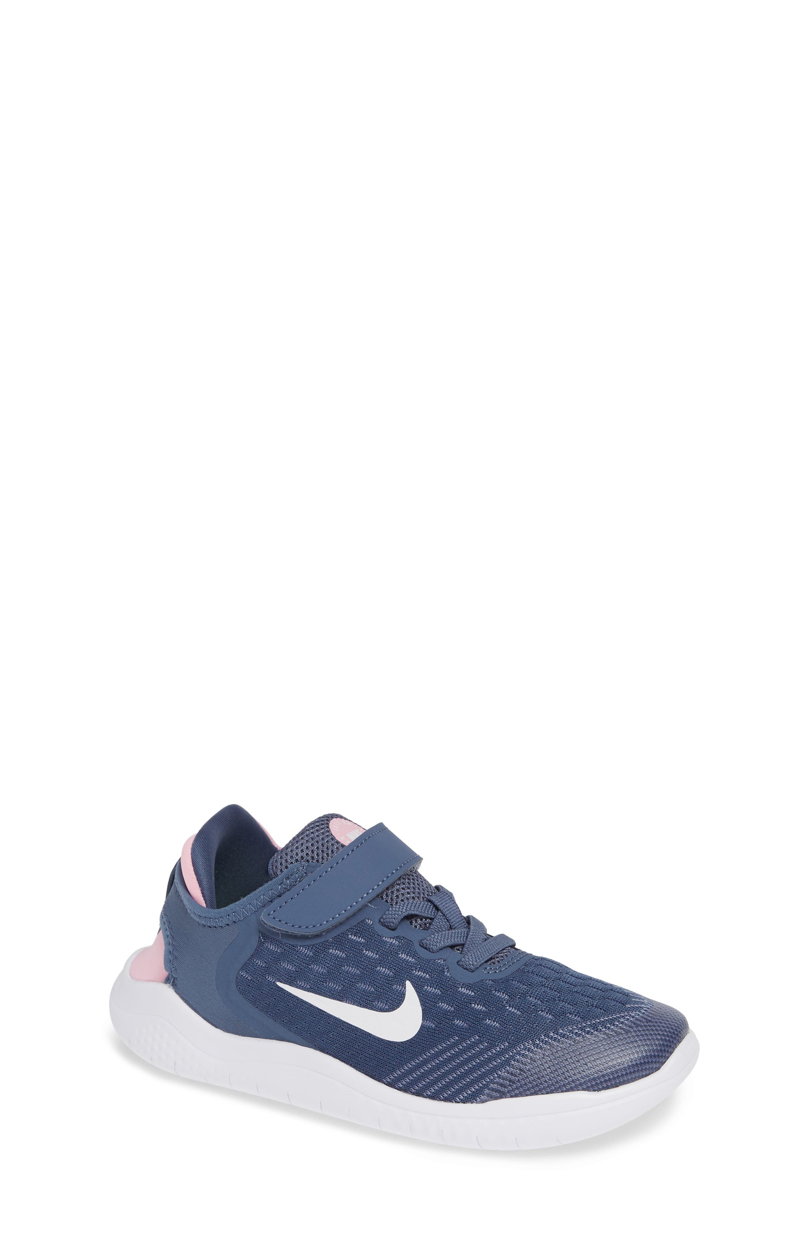 Free RN Running Shoe,                         Main,                         color, BLUE/ WHITE/ SLATE/ PINK