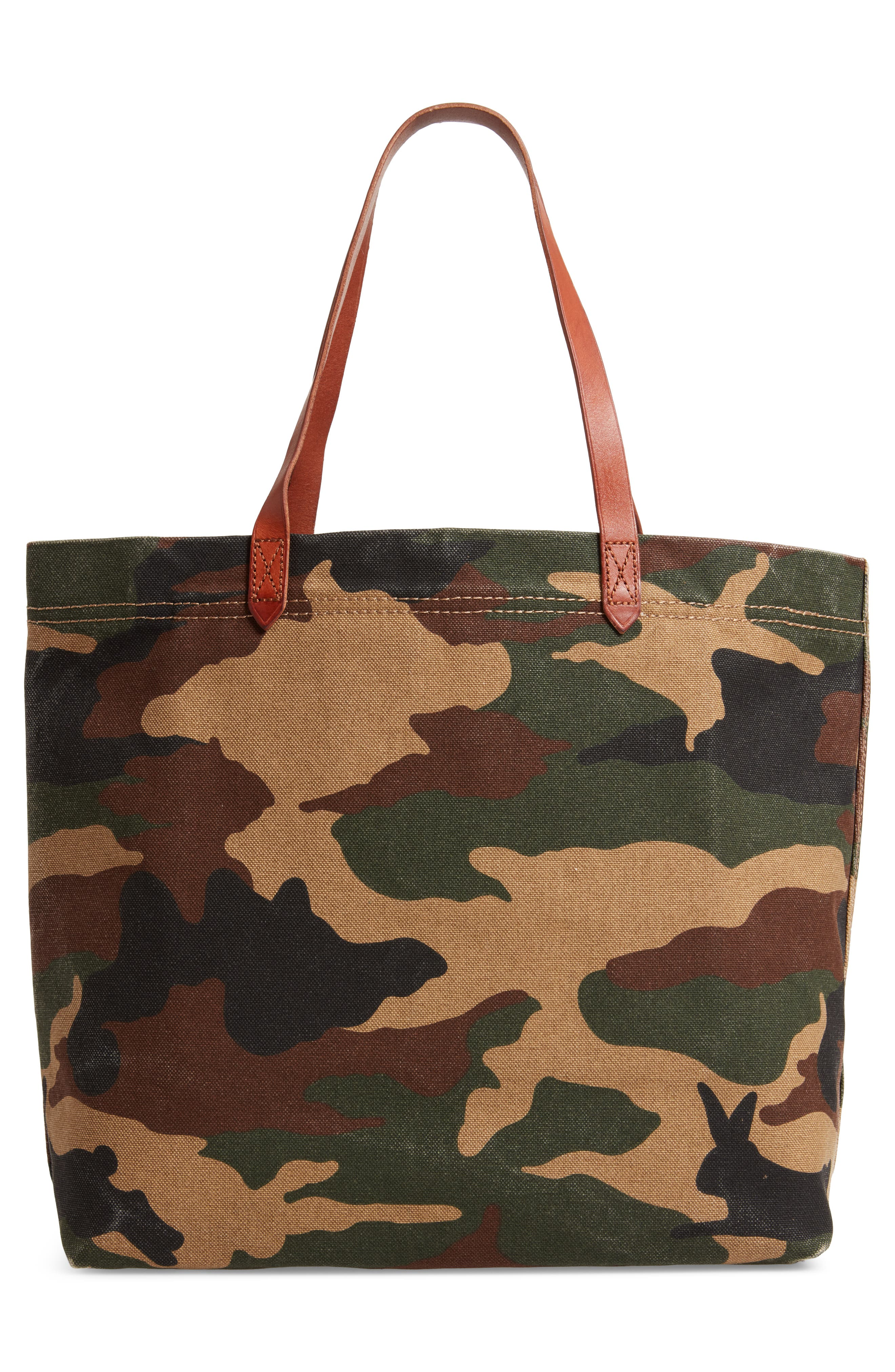 The Canvas Transport Tote in Cottontail Camo,                             Alternate thumbnail 3, color,