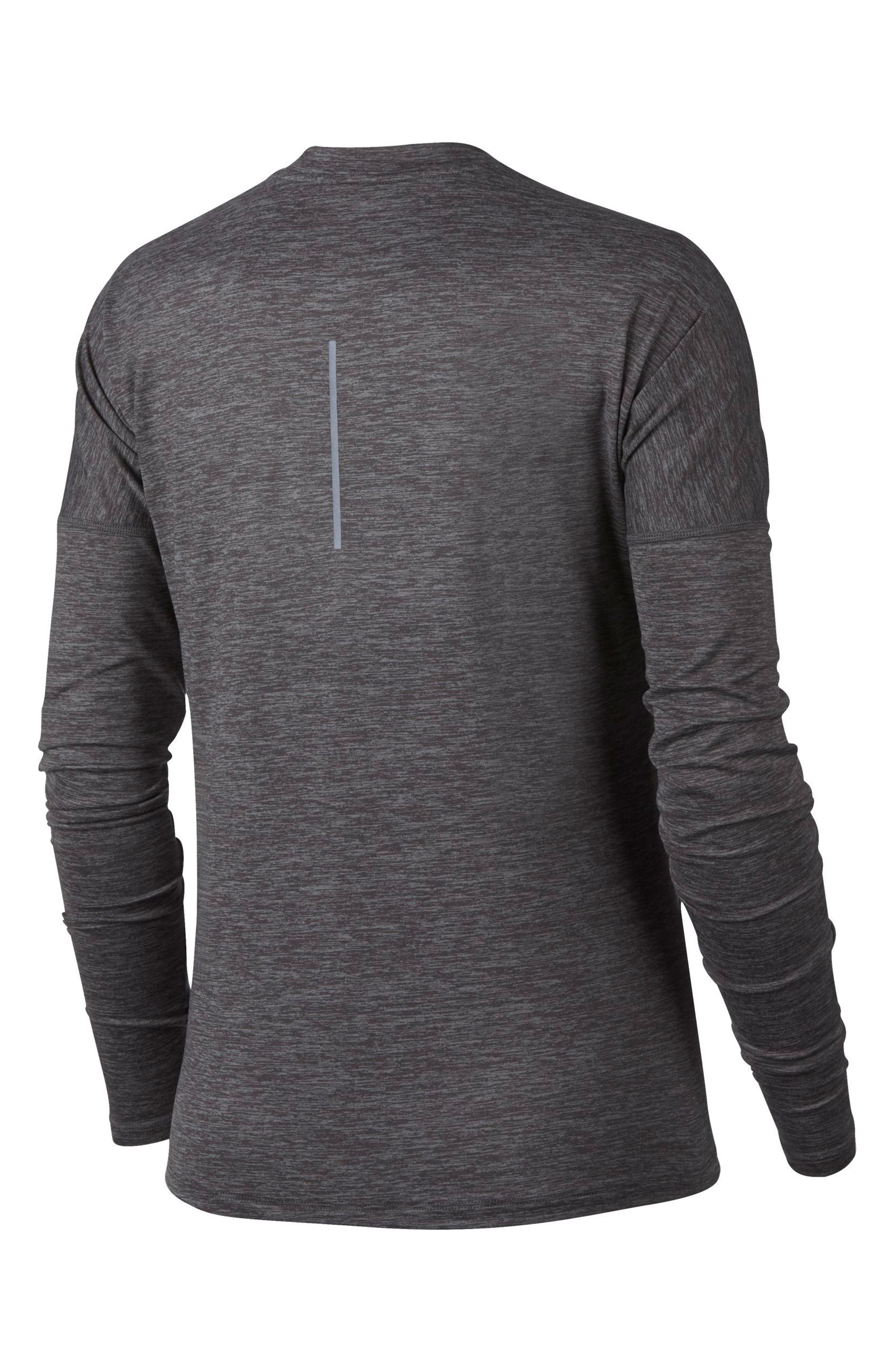NIKE,                             Dry Element Long Sleeve Top,                             Alternate thumbnail 9, color,                             036