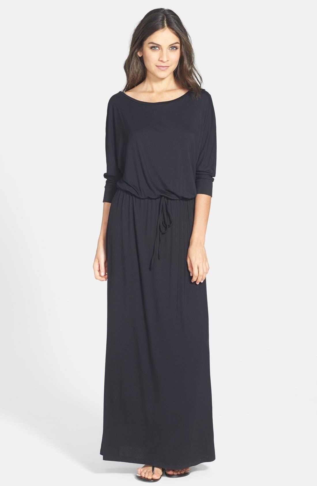 Dolman Sleeve Maxi Dress,                             Main thumbnail 1, color,                             001