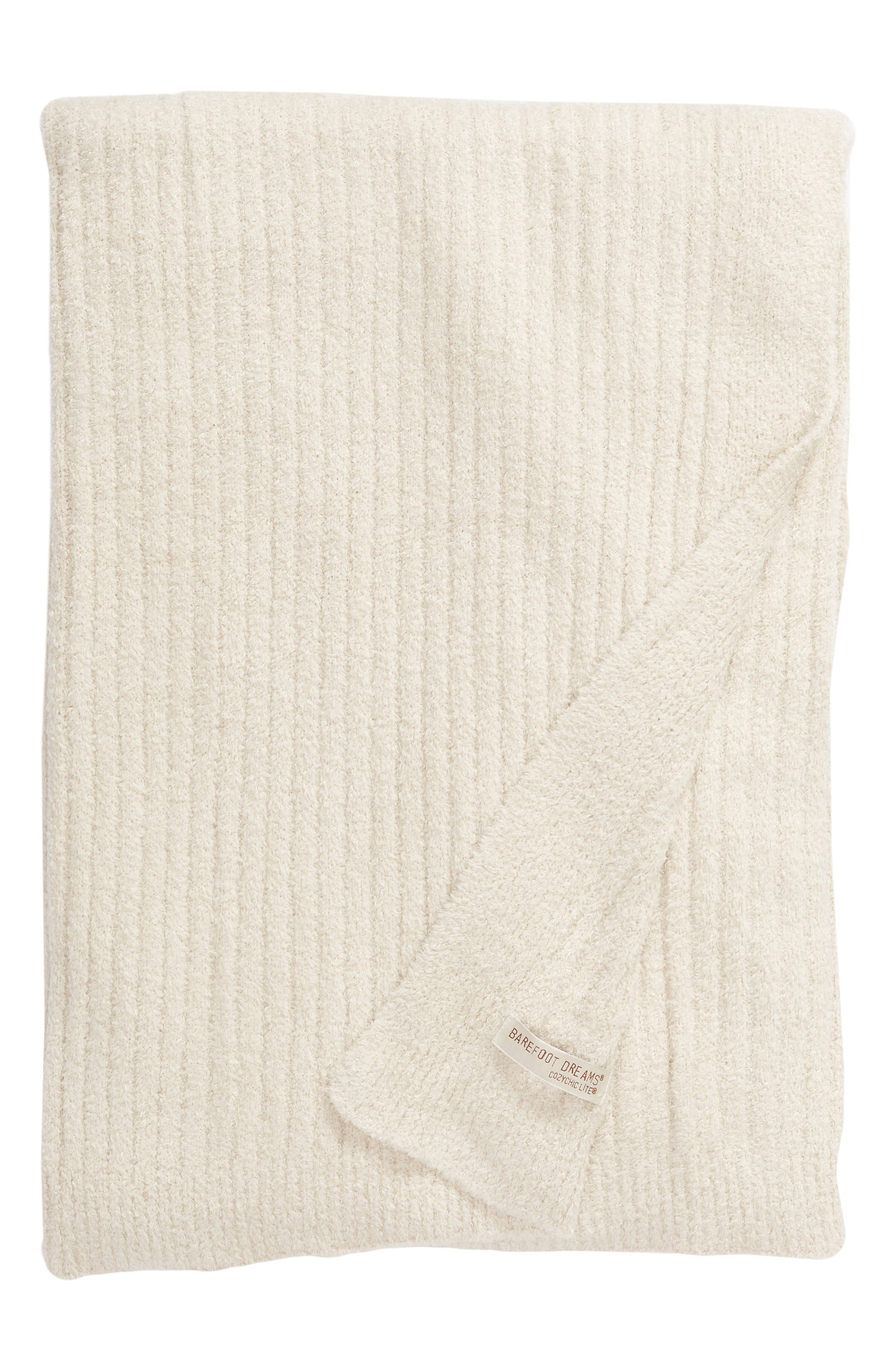 Cozychic<sup>®</sup> Ribbed Throw Blanket,                         Main,                         color, BISQUE