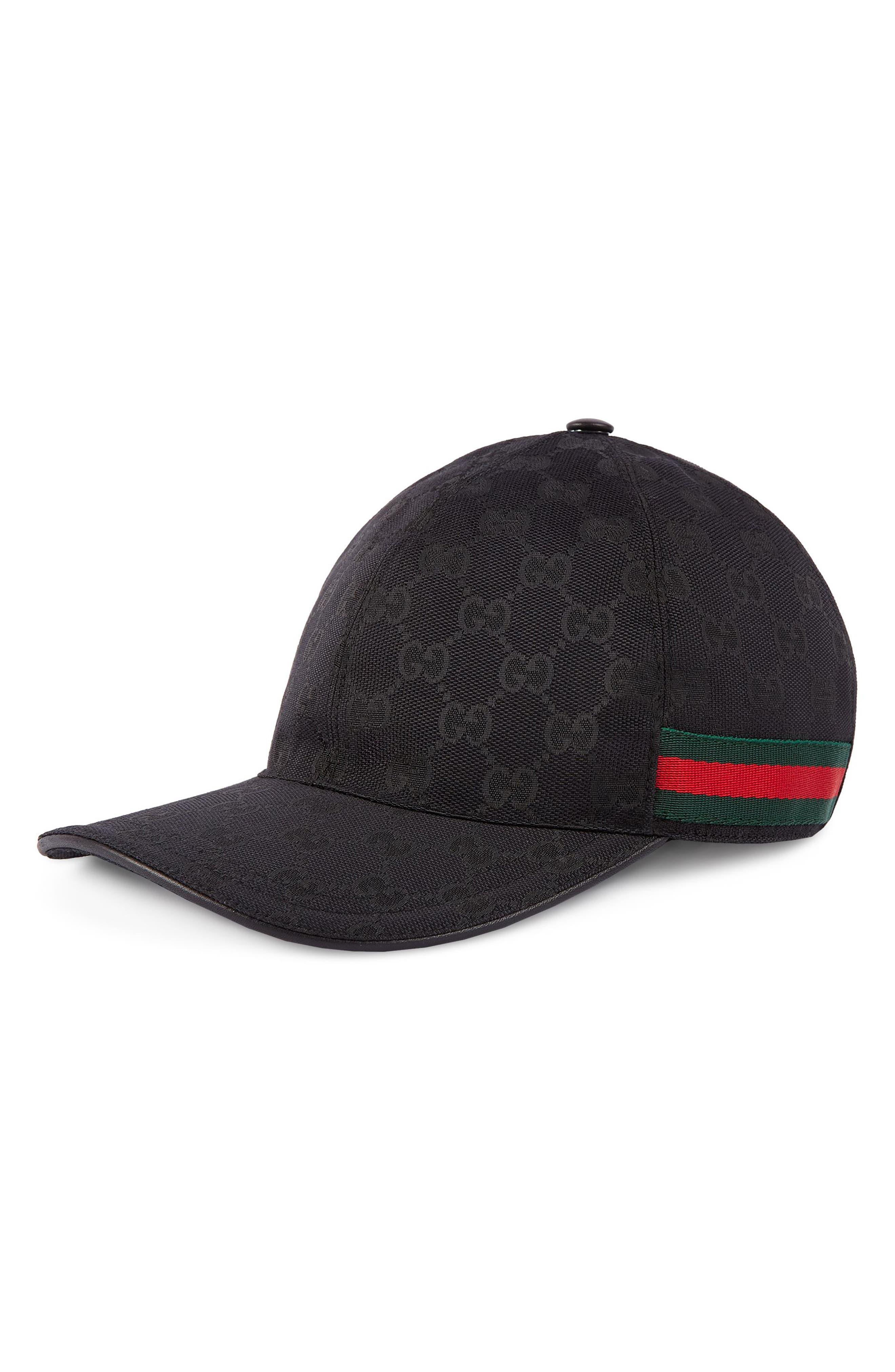 Logo Print Baseball Cap,                         Main,                         color, BLACK