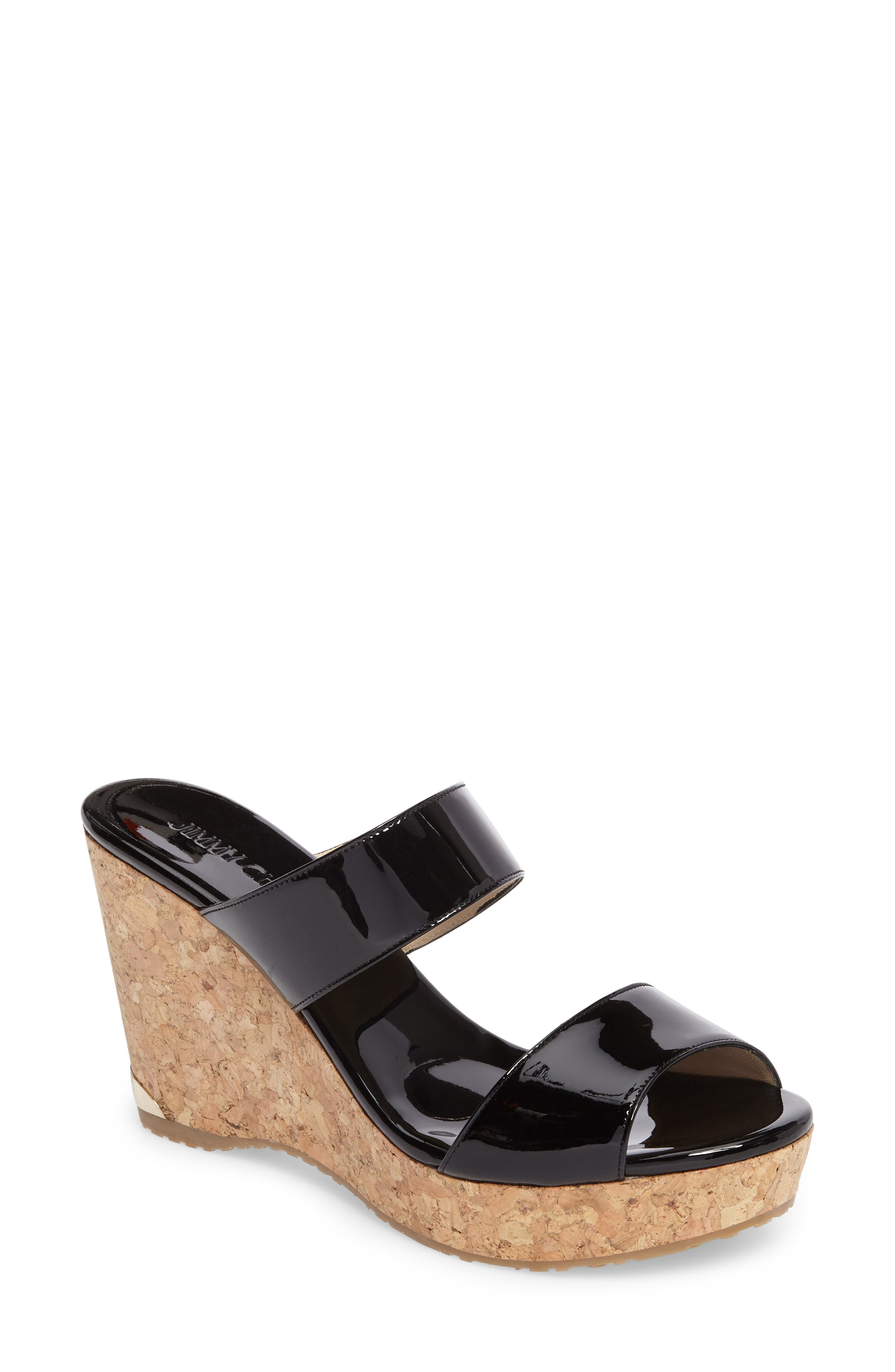 Parker Wedge Sandal,                         Main,                         color, 001