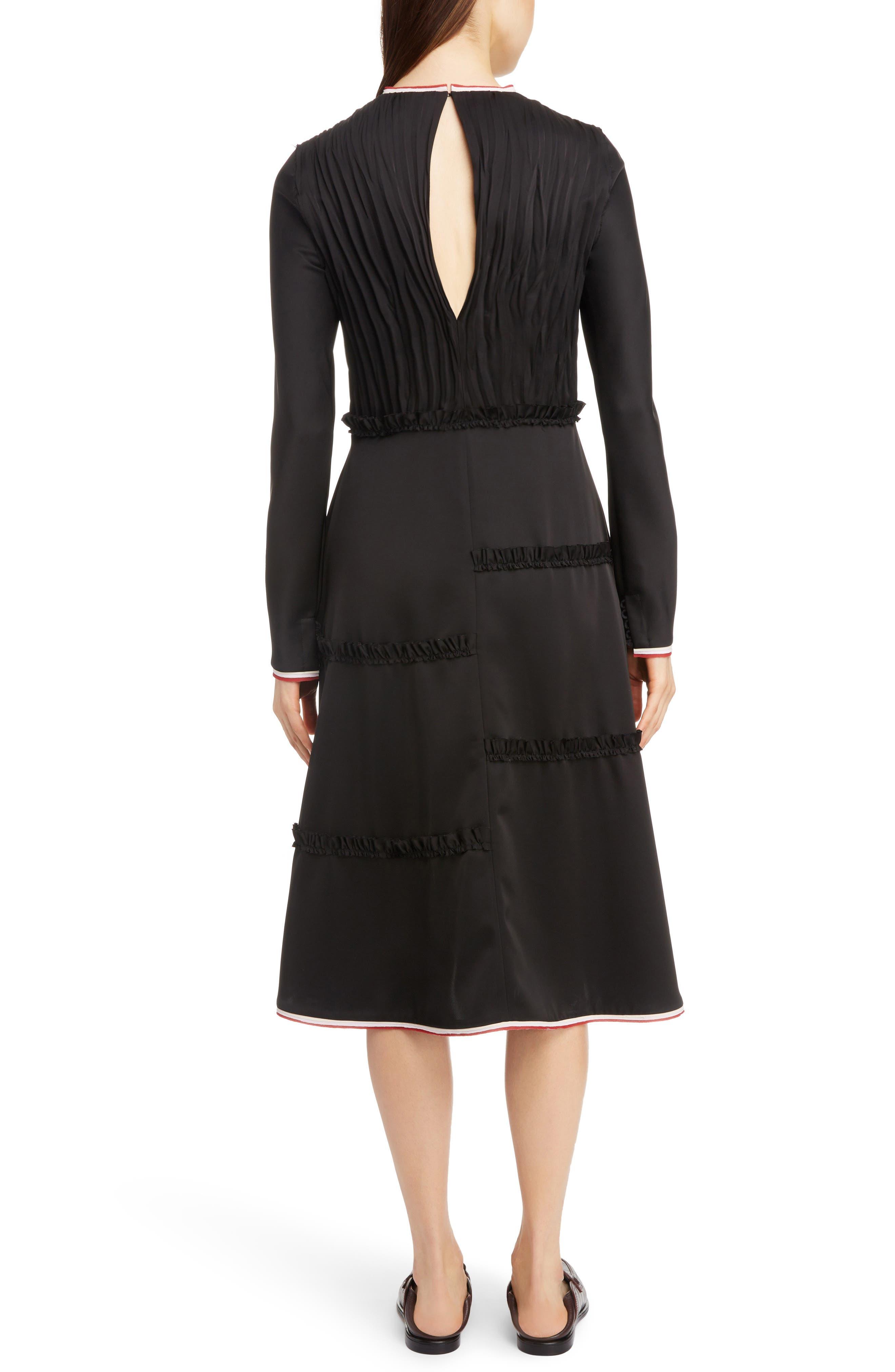 LOEWE,                             Stripe Trim Back Cutout Dress,                             Alternate thumbnail 2, color,                             001