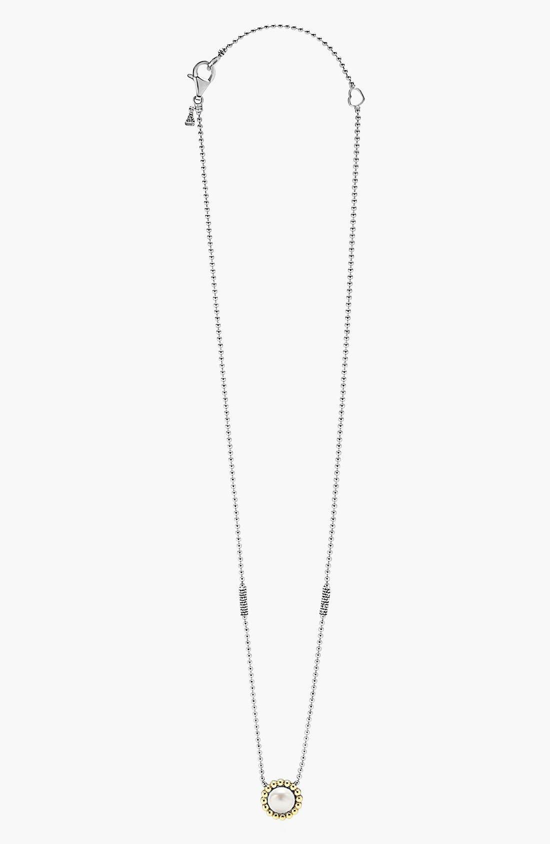 Stone Pendant Necklace,                             Alternate thumbnail 4, color,                             PEARL