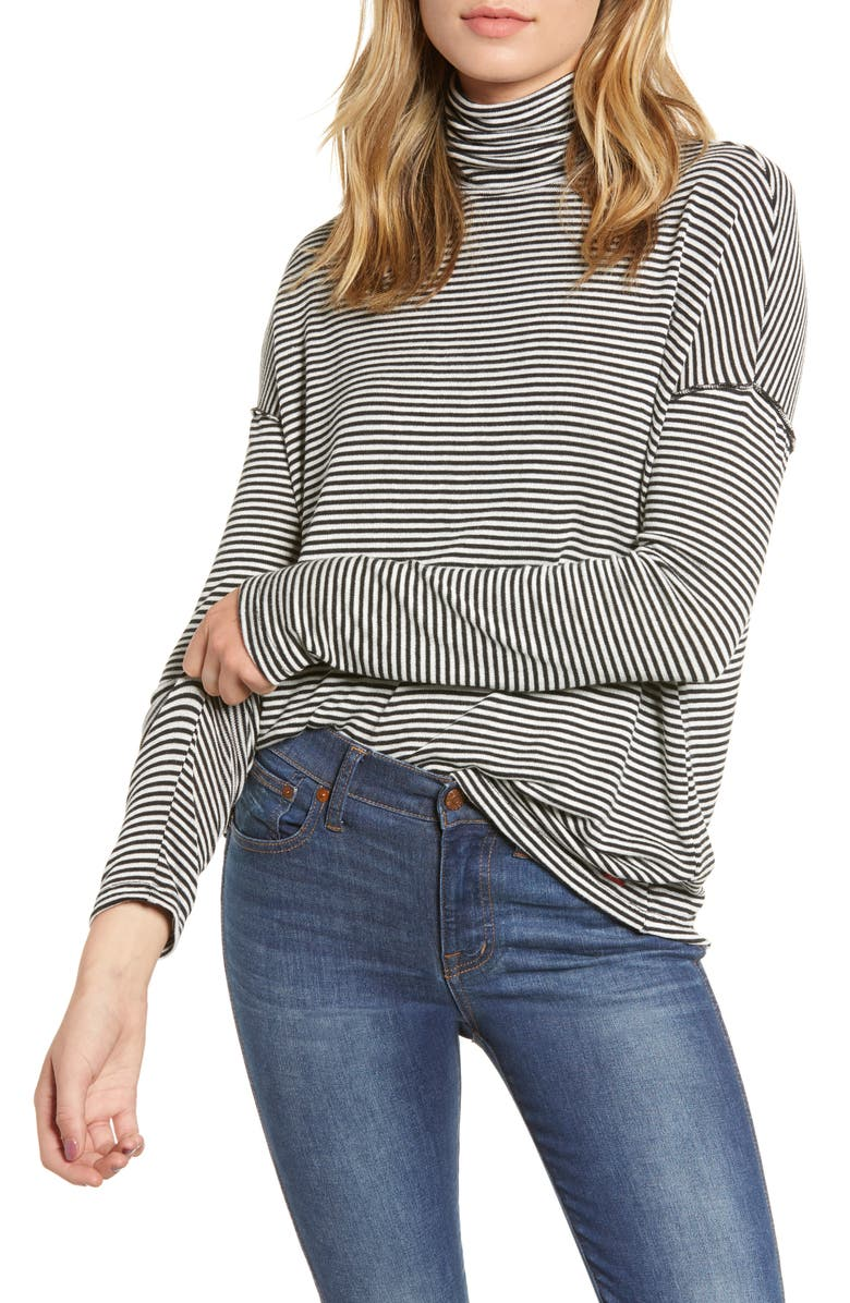 N:philanthropy NICKEL STRIPE TURTLENECK