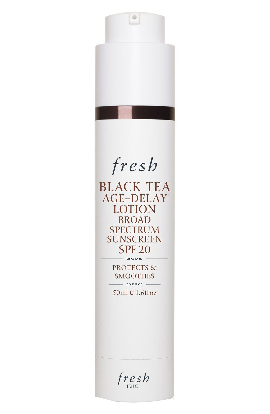 FRESH<SUP>®</SUP>,                             Black Tea Age-Delay Lotion Broad Spectrum Sunscreen SPF 20,                             Main thumbnail 1, color,                             000