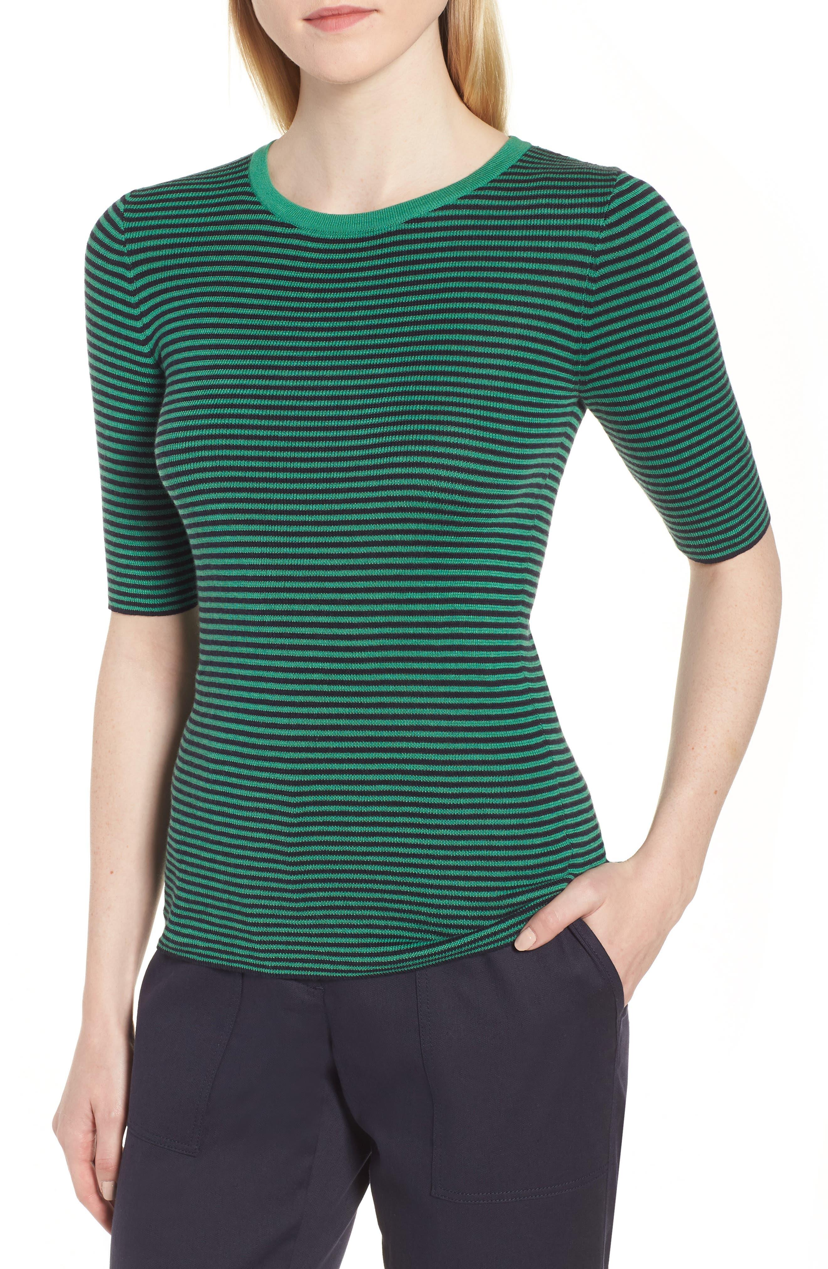 Stripe Crewneck Sweater,                             Main thumbnail 1, color,                             315