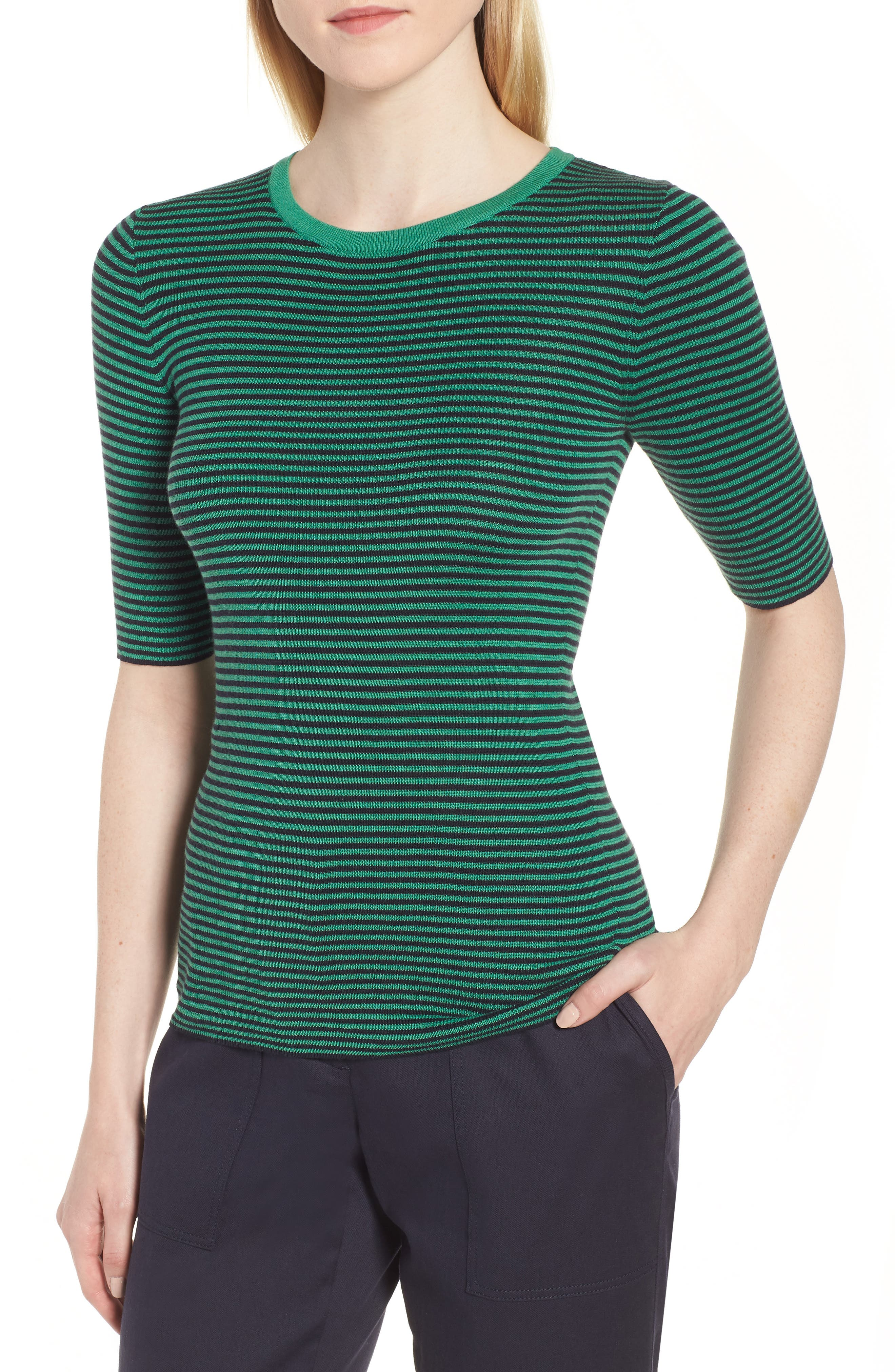 Stripe Crewneck Sweater,                         Main,                         color, 315