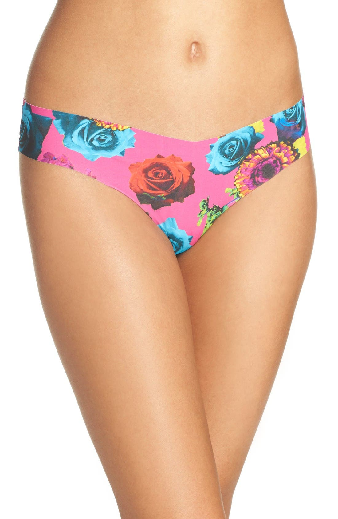 Print Microfiber Thong,                             Main thumbnail 80, color,