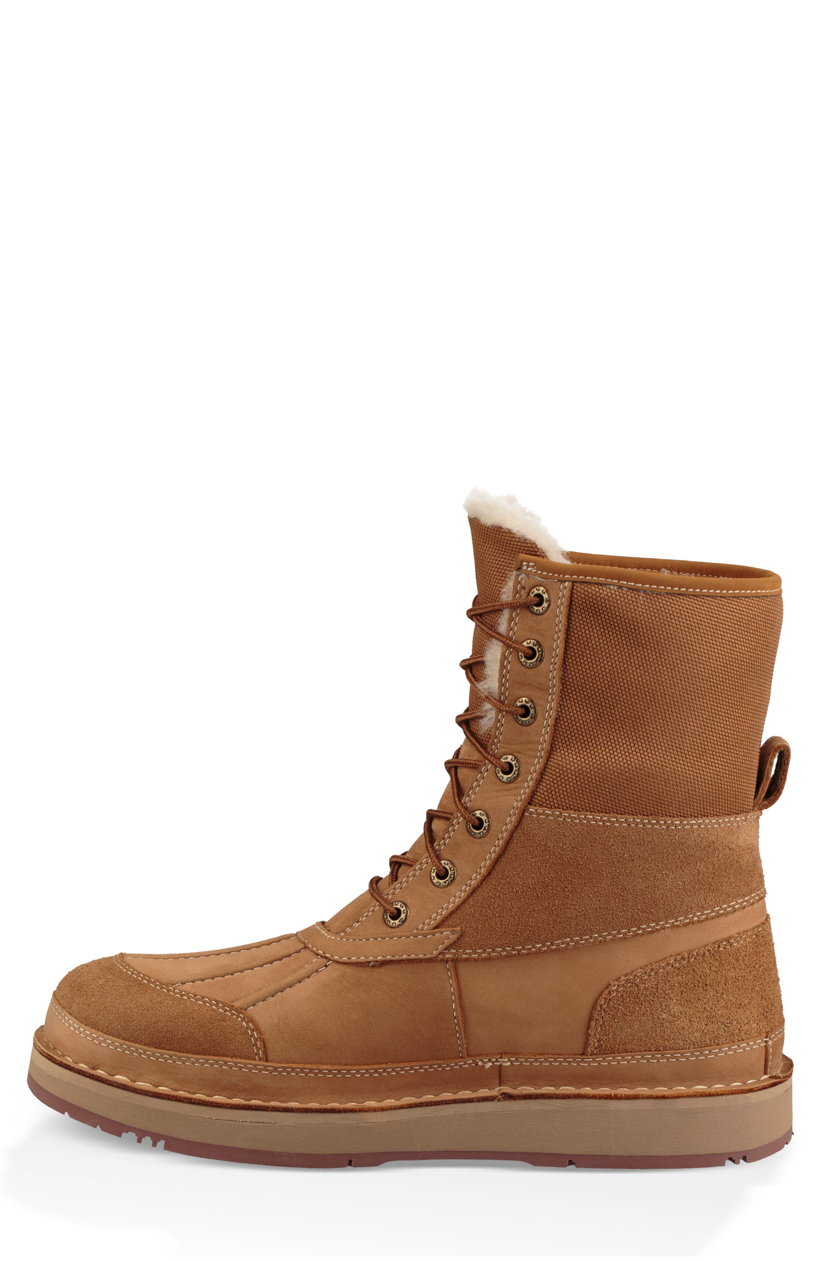 Avalanche Butte Waterproof Boot,                             Alternate thumbnail 9, color,                             CHESTNUT