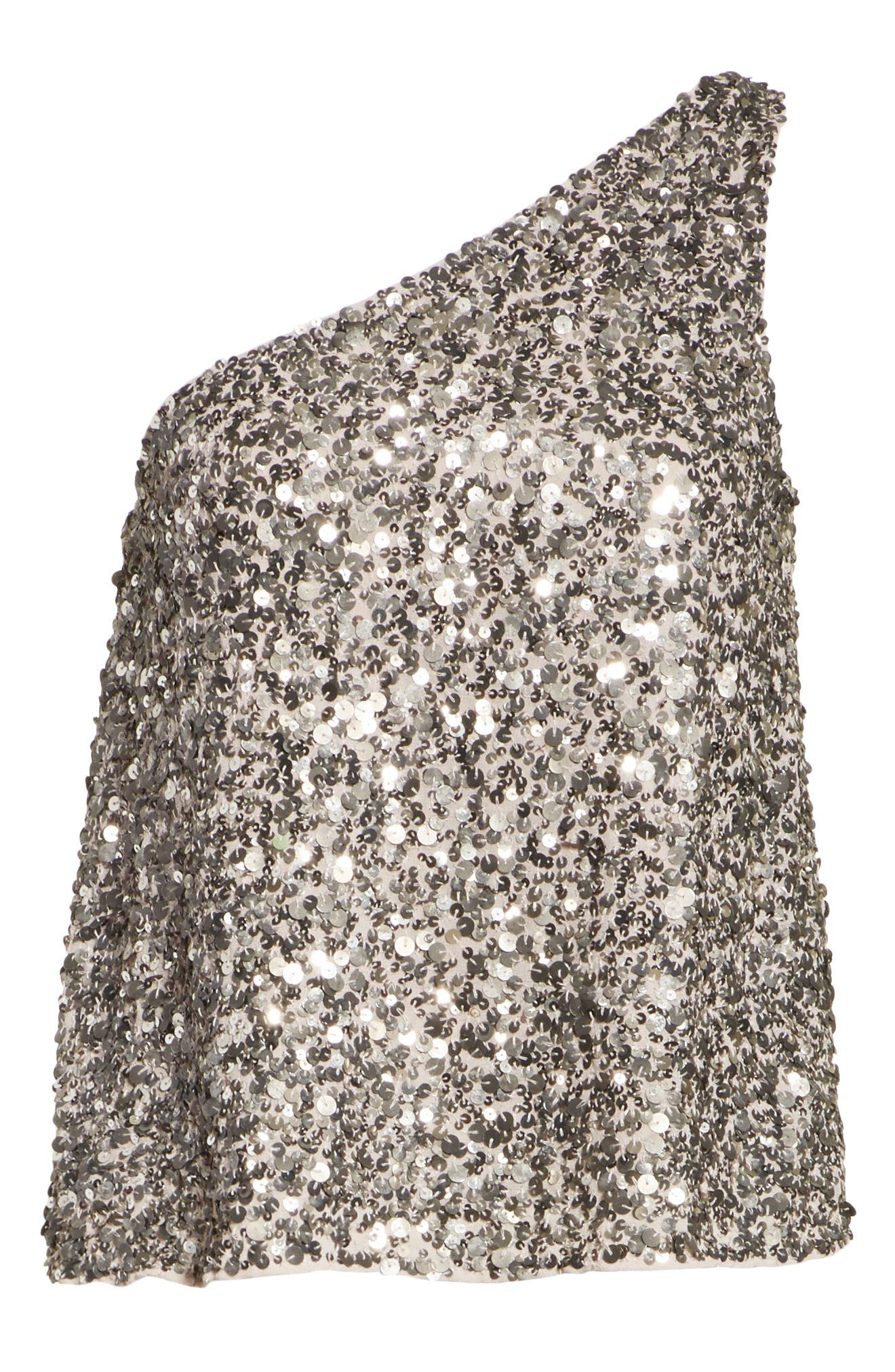 Hedra One-Shoulder Sequin Top,                             Alternate thumbnail 6, color,                             042