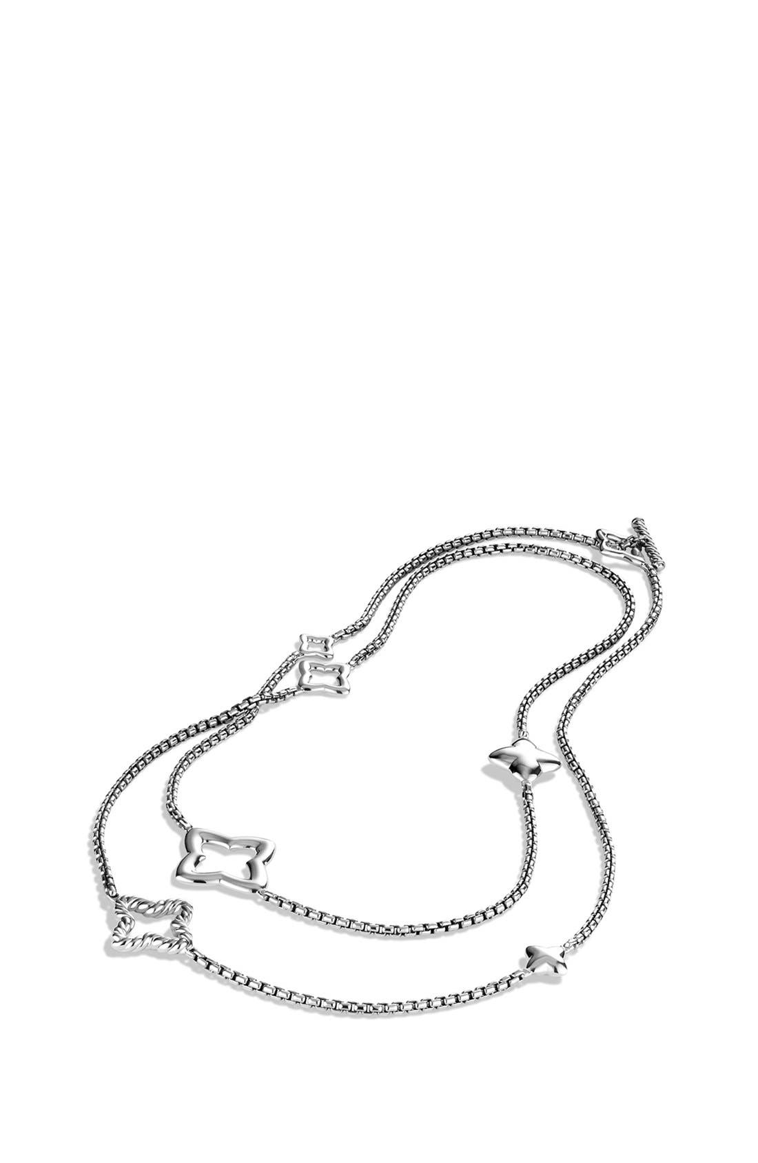 'Quatrefoil' Chain Necklace,                             Alternate thumbnail 2, color,                             SILVER