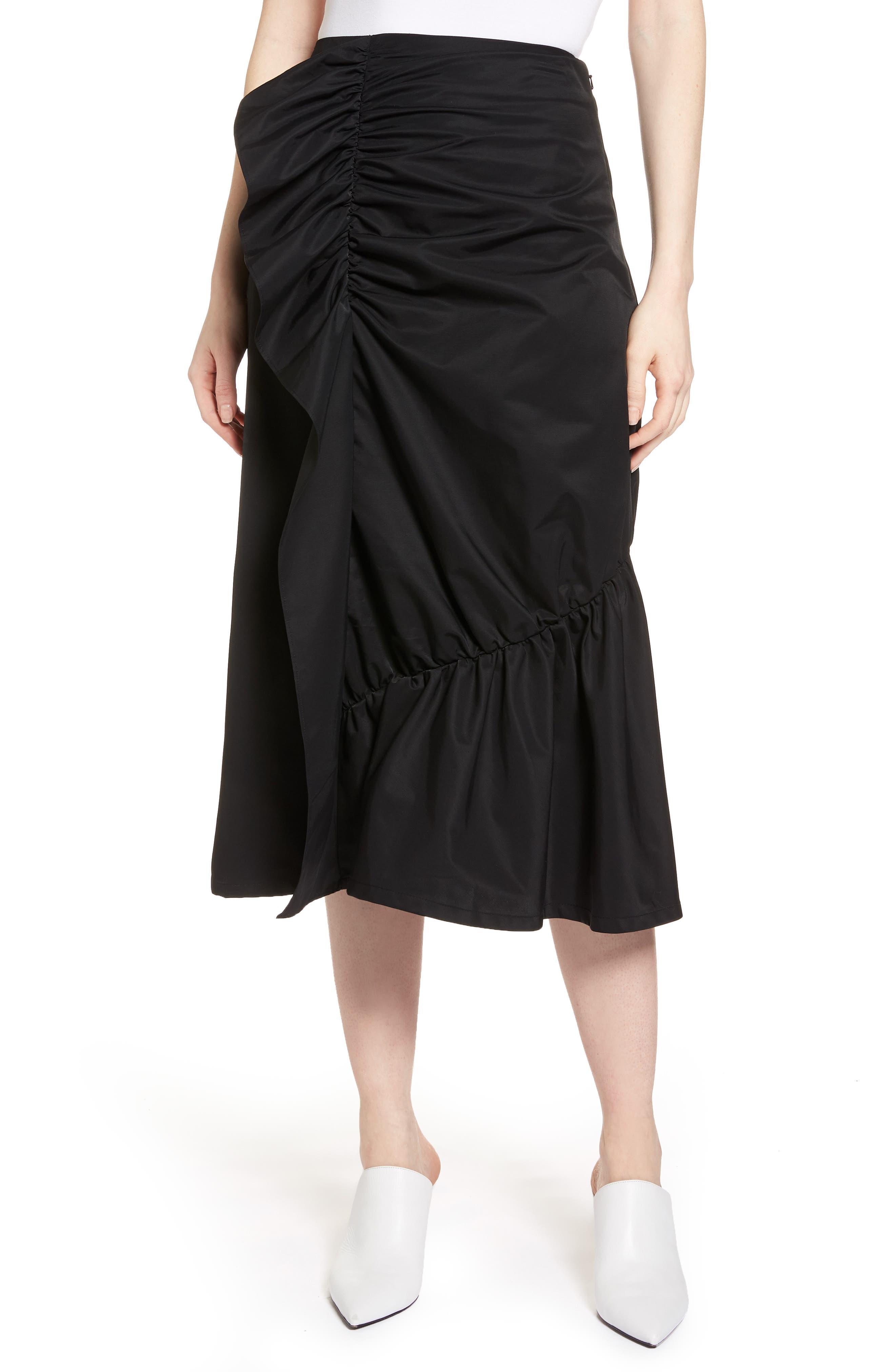 Ruffle Front Skirt,                             Main thumbnail 1, color,                             001