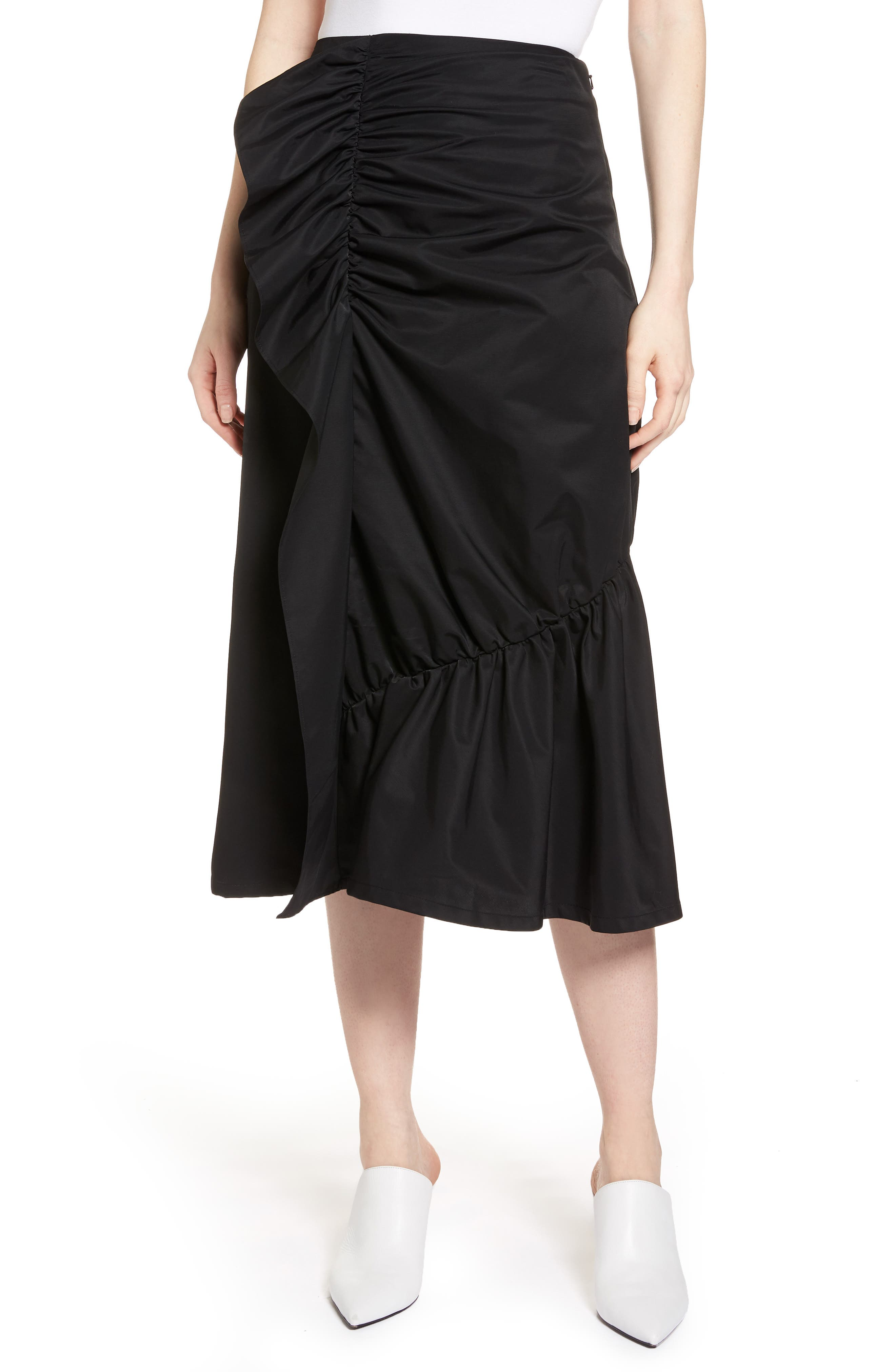 Ruffle Front Skirt,                         Main,                         color, 001