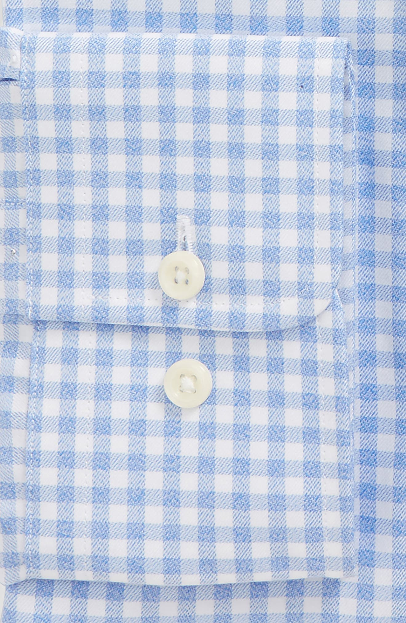 Regular Fit Check Dress Shirt,                             Alternate thumbnail 4, color,