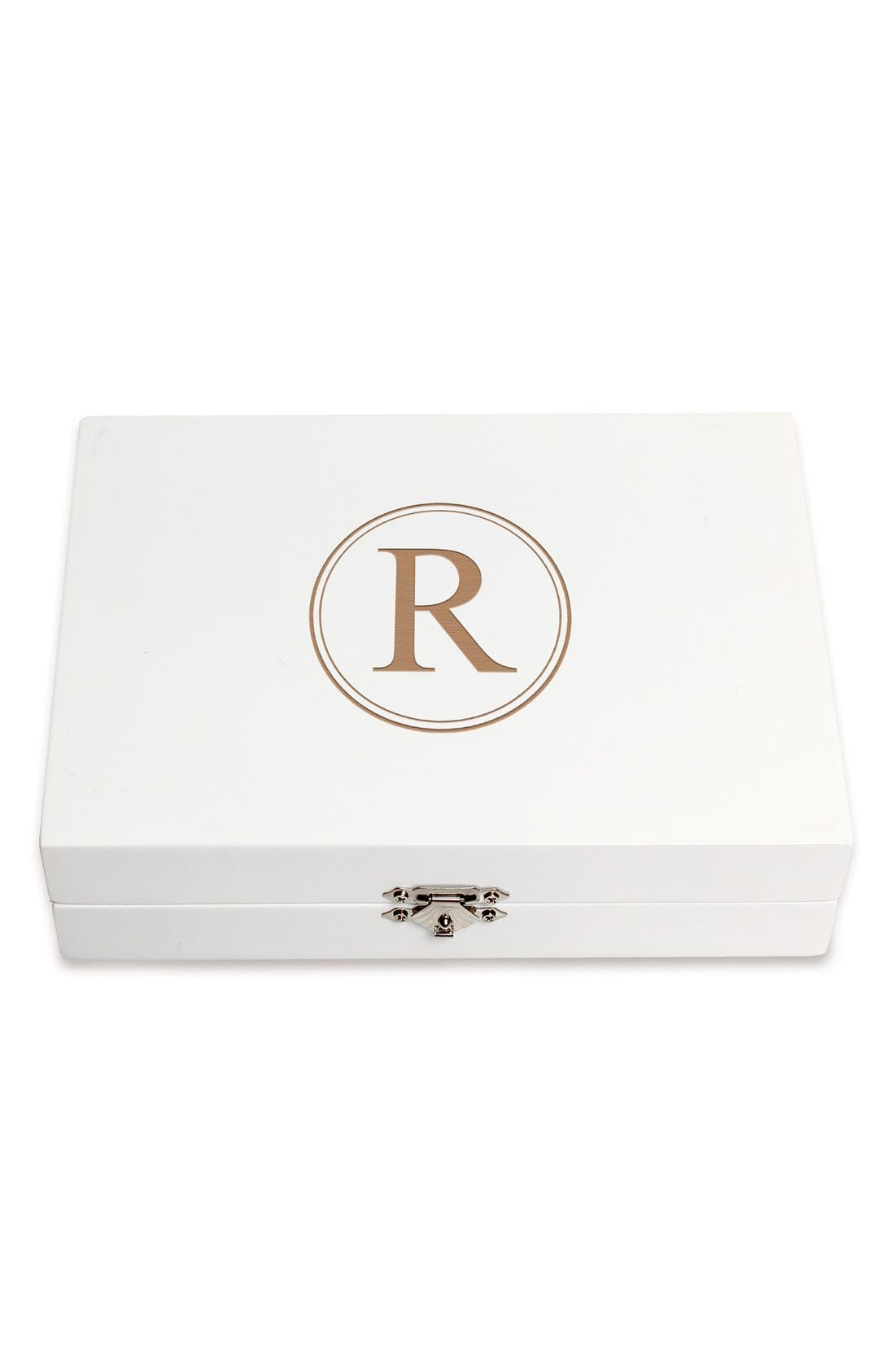 Monogram Wooden Jewelry Box,                             Main thumbnail 47, color,