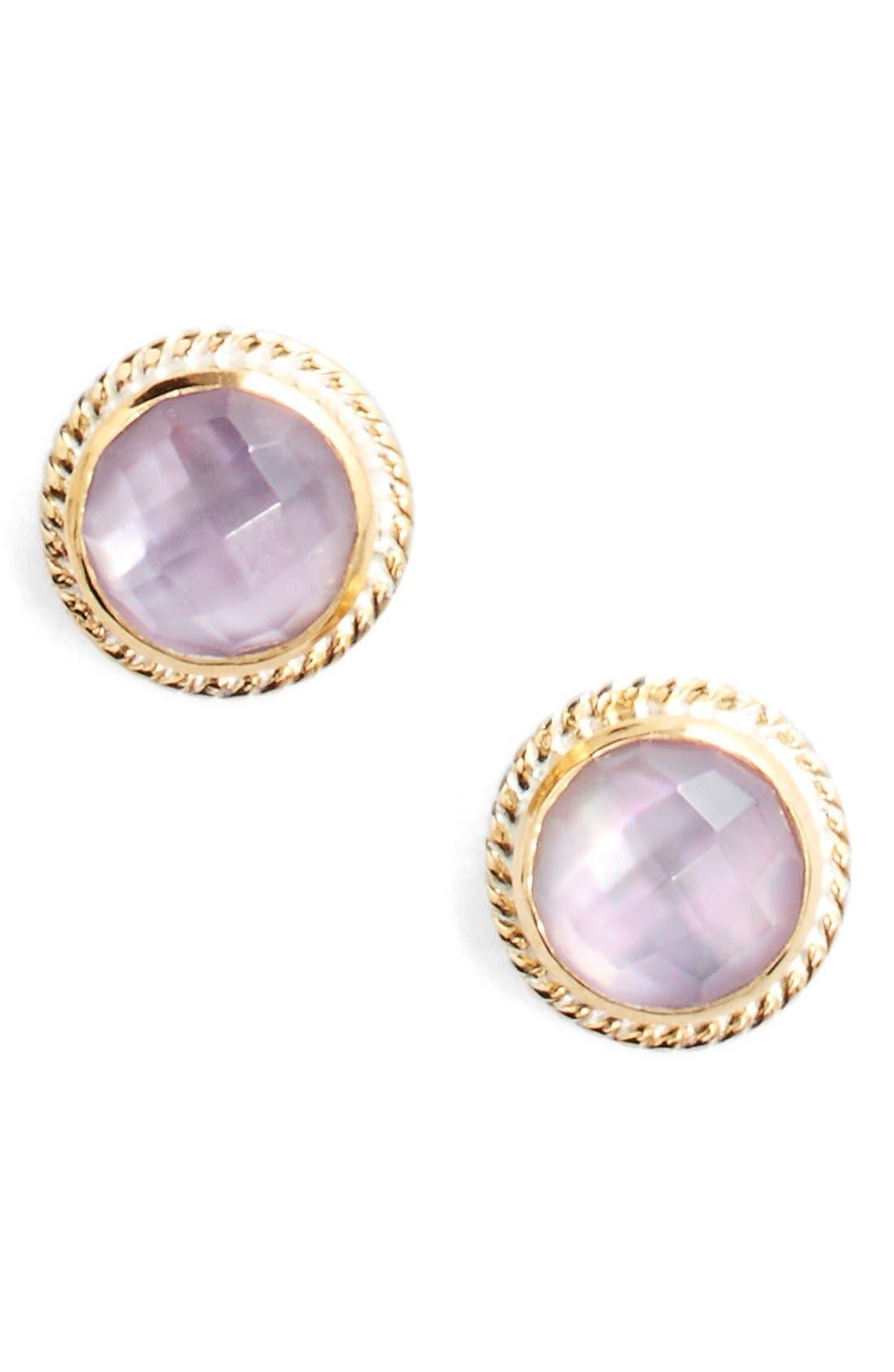 Stone Stud Earrings,                             Main thumbnail 14, color,