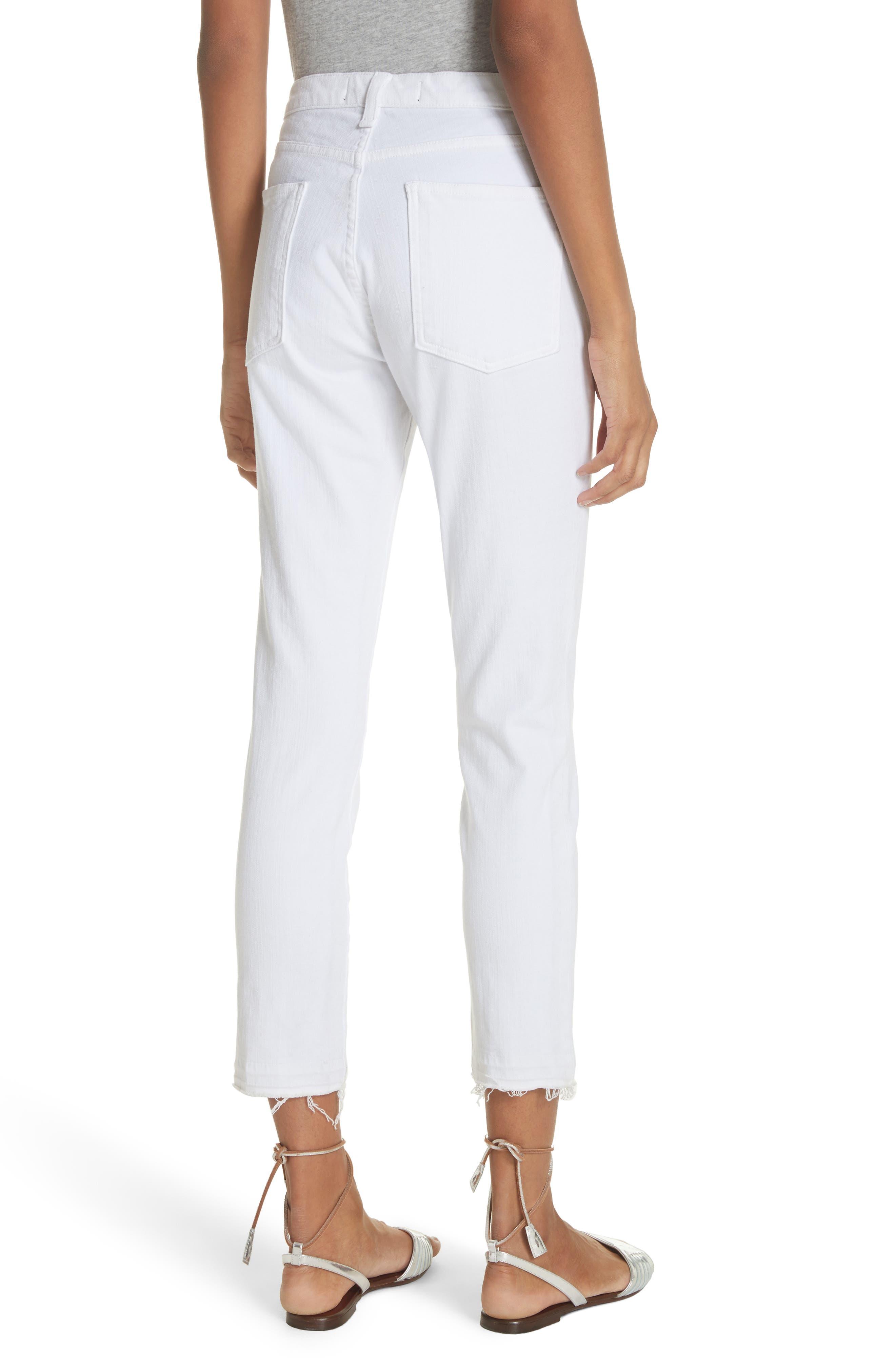Debbie Frayed Crop Skinny Jeans,                             Alternate thumbnail 5, color,