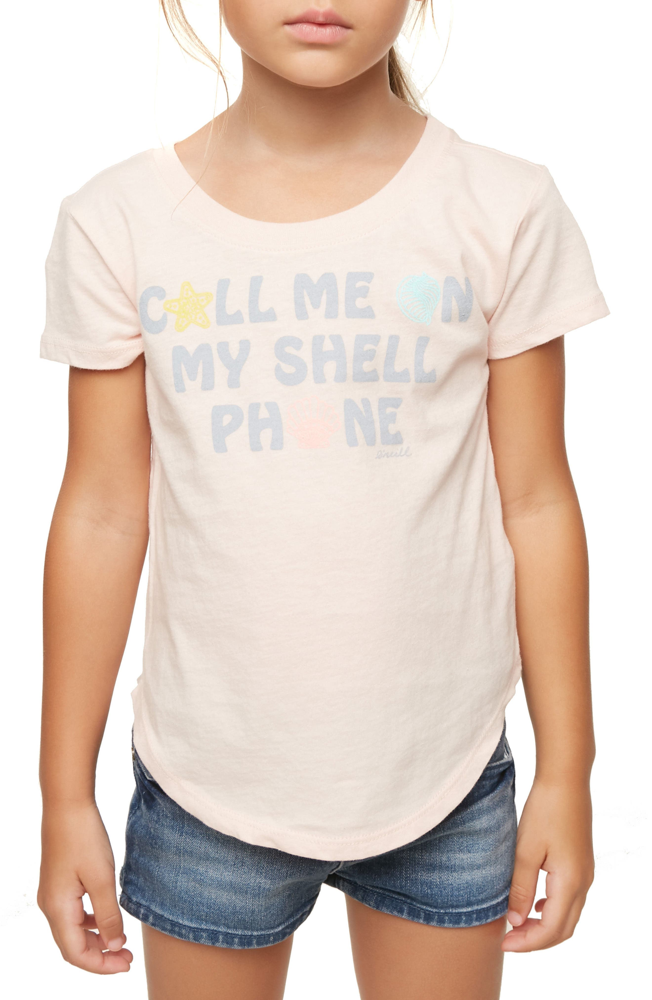 Shell Call Graphic Tee,                         Main,                         color, CAMEO ROSE