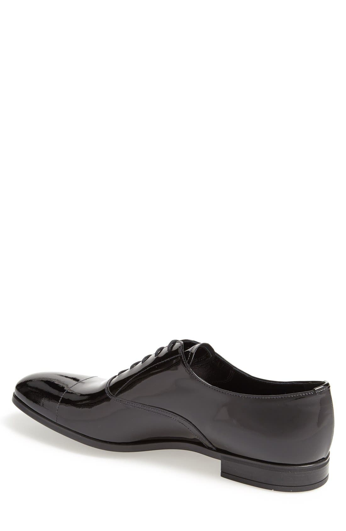 Patent Cap Toe Oxford,                             Alternate thumbnail 2, color,                             BLACK