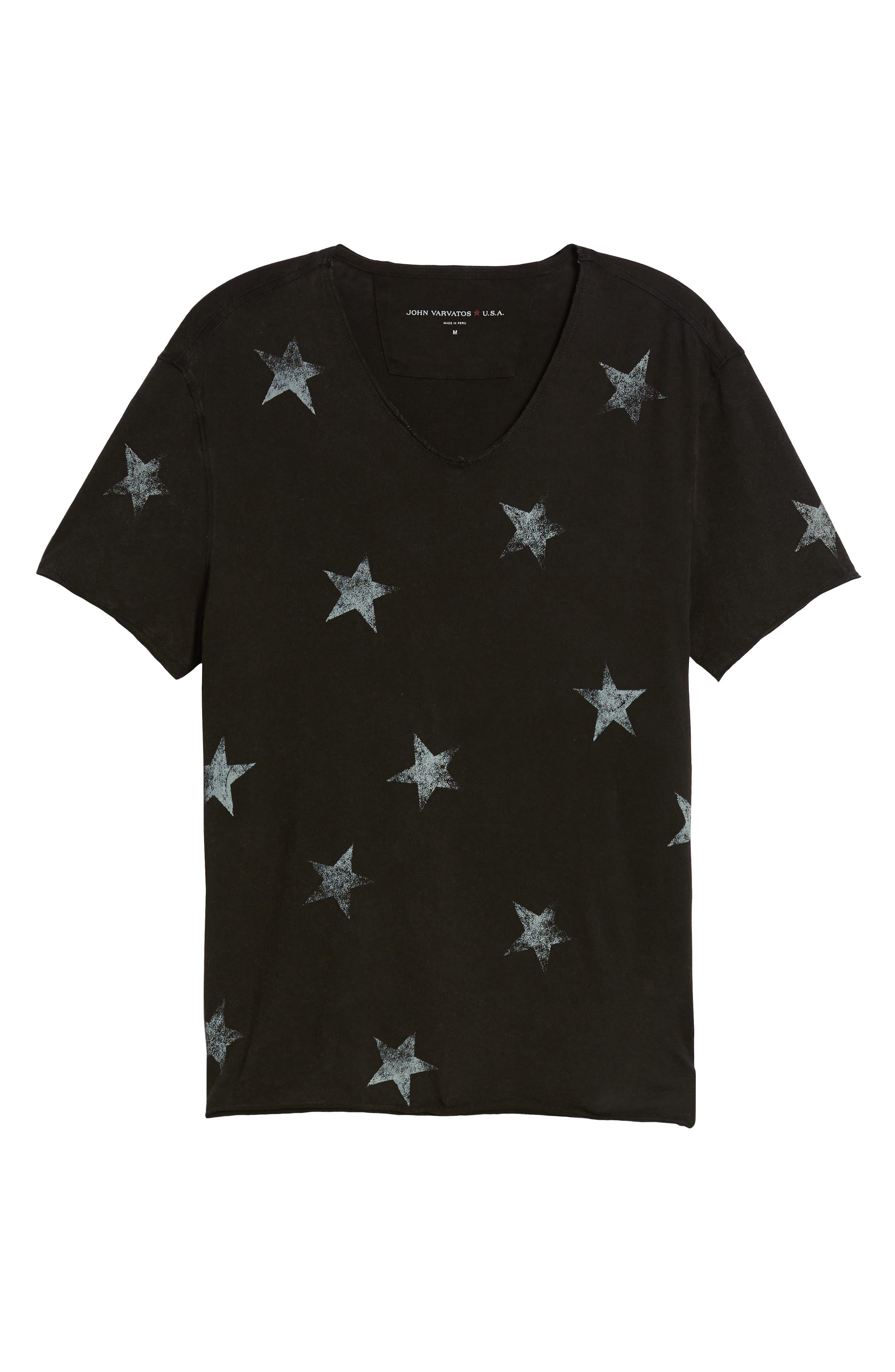 Regular Fit Crewneck T-Shirt,                             Alternate thumbnail 6, color,                             001