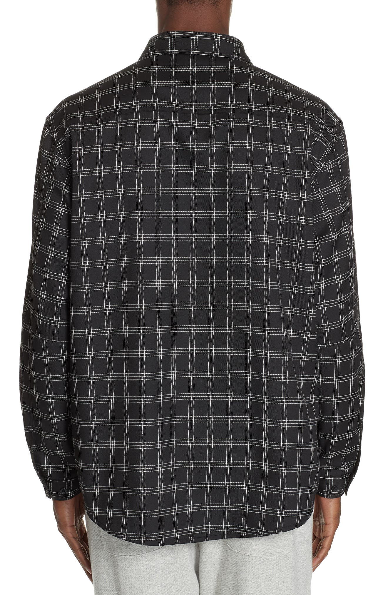 Core Flannel Shirt,                             Alternate thumbnail 3, color,                             BLACK
