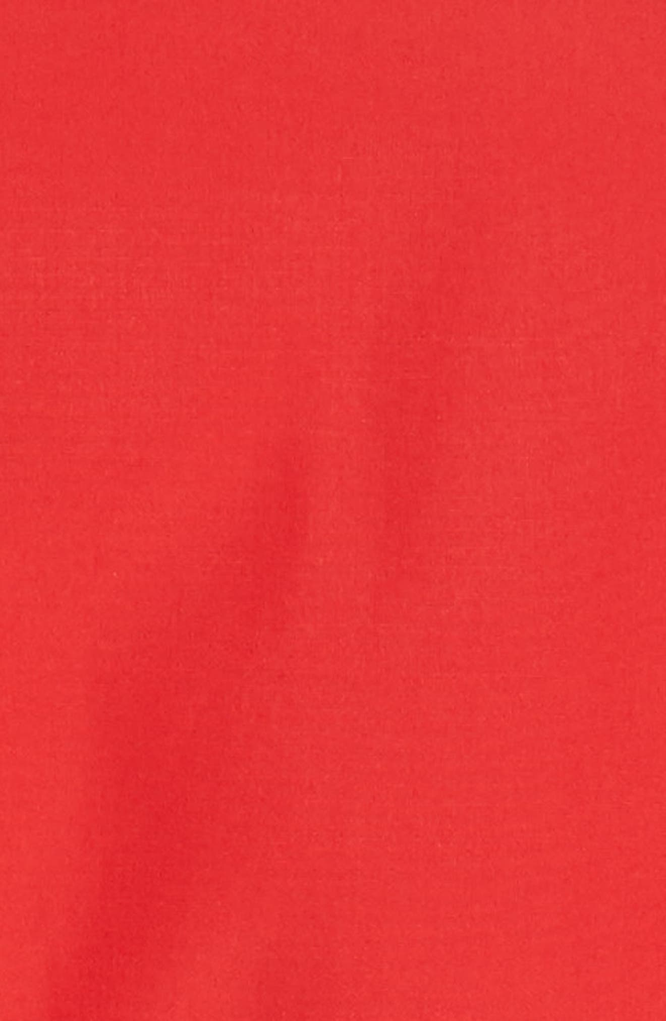 Dalmine Cotton Wrap Dress,                             Alternate thumbnail 5, color,                             RED