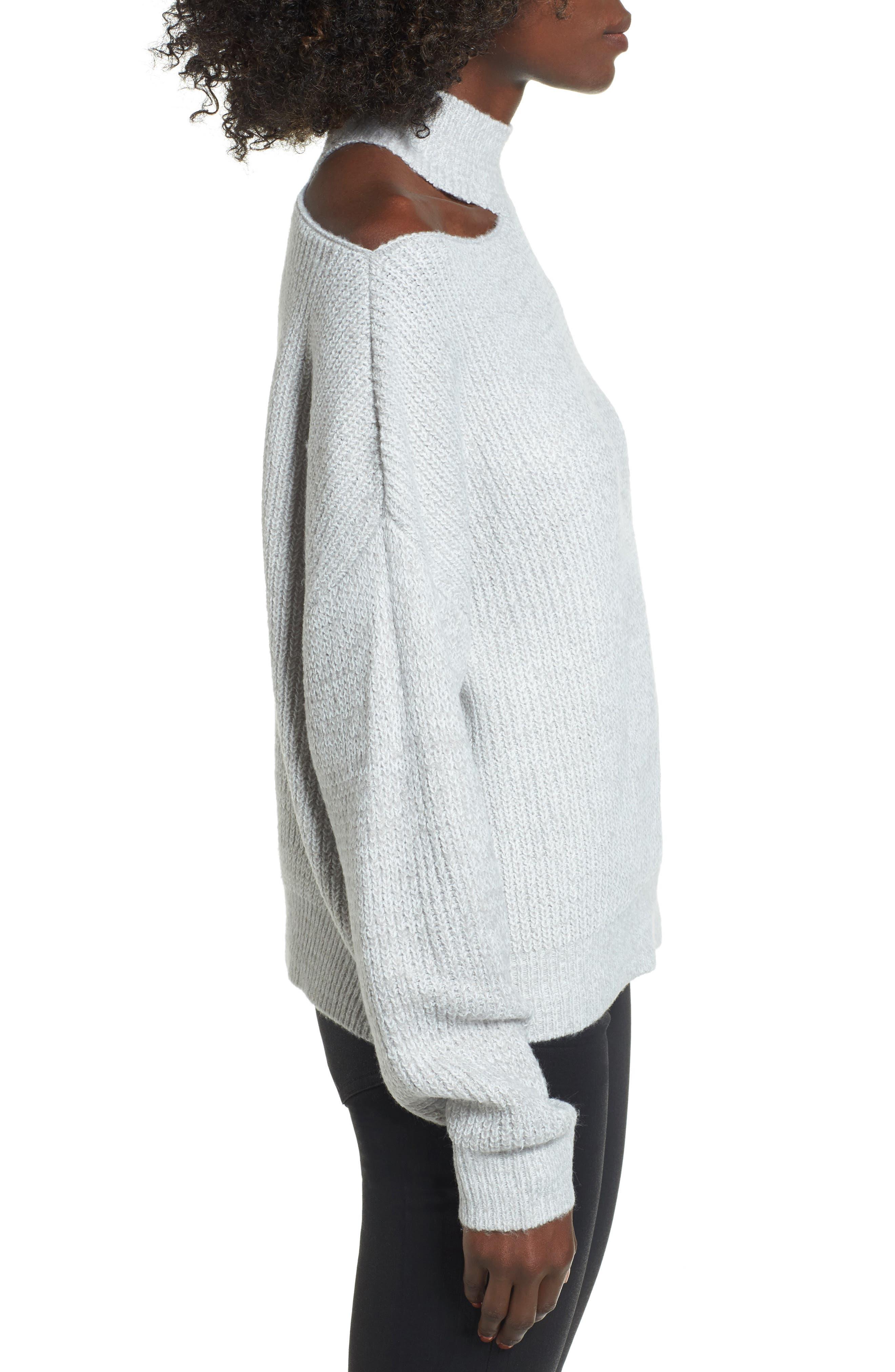 Cutout Turtleneck Sweater,                             Alternate thumbnail 6, color,