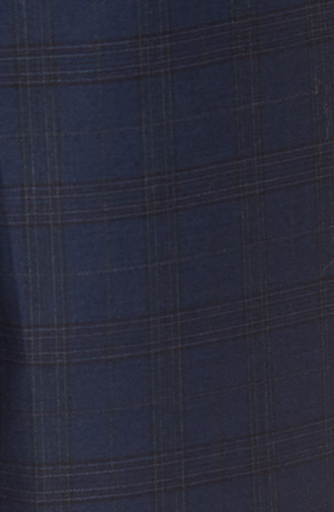 Jetsetter Slim Fit Stretch Suit Pants,                             Alternate thumbnail 5, color,                             SUBTLE NAVY PLAID