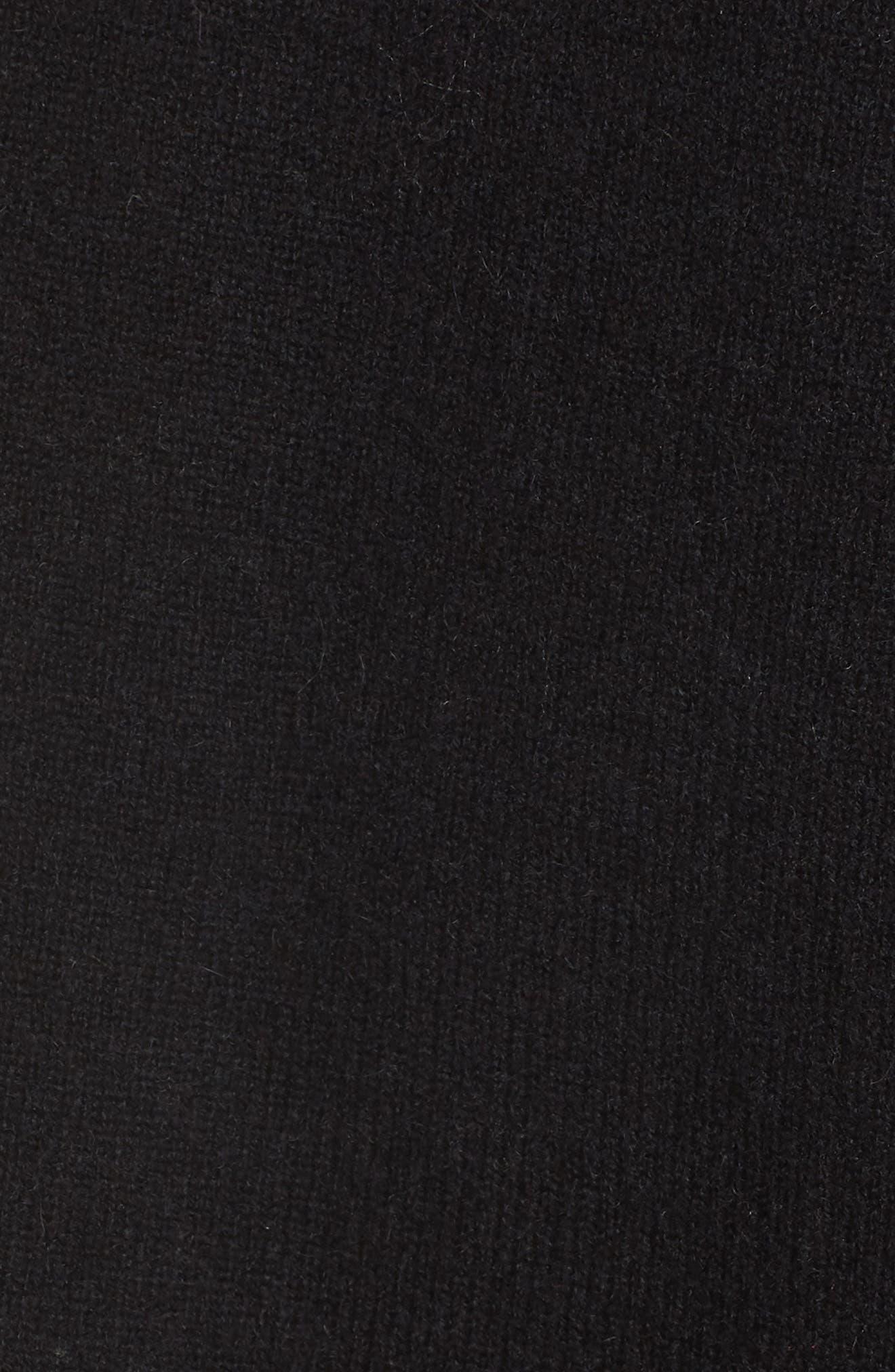 Shawl Collar Cashmere Cardigan,                             Alternate thumbnail 5, color,                             001
