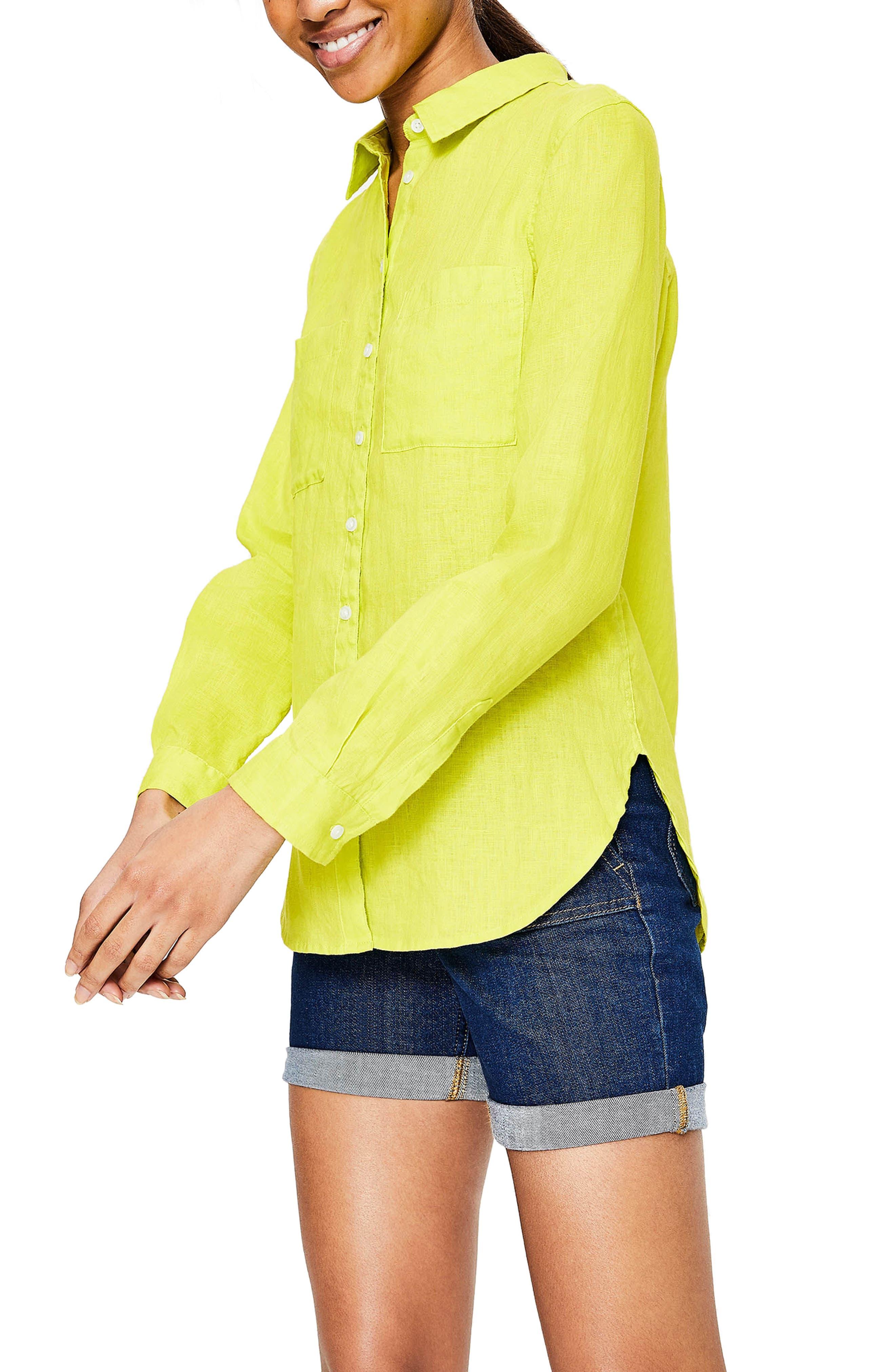 Linen Shirt,                             Alternate thumbnail 6, color,