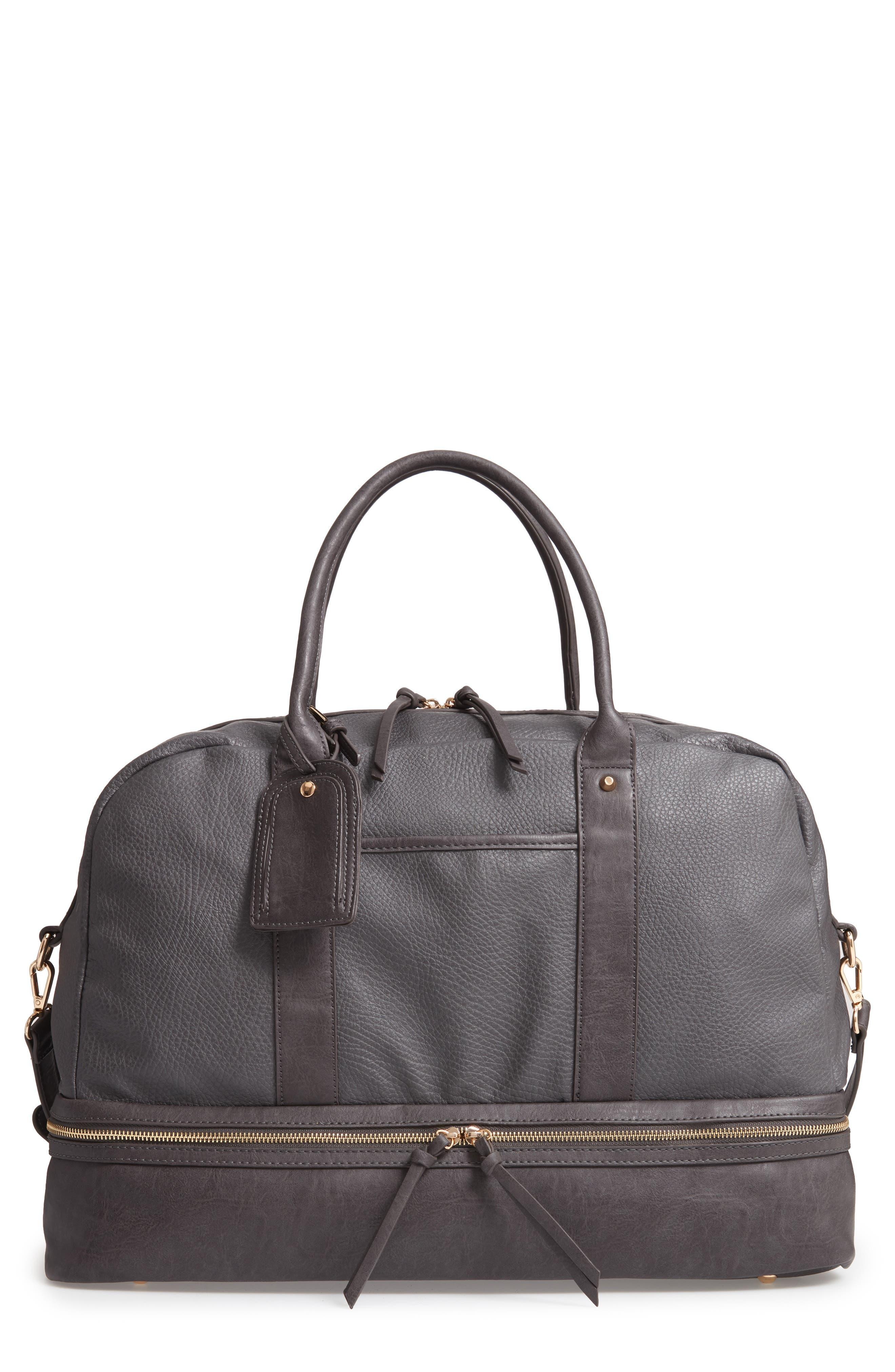 Mason Weekend Bag,                         Main,                         color, GREY