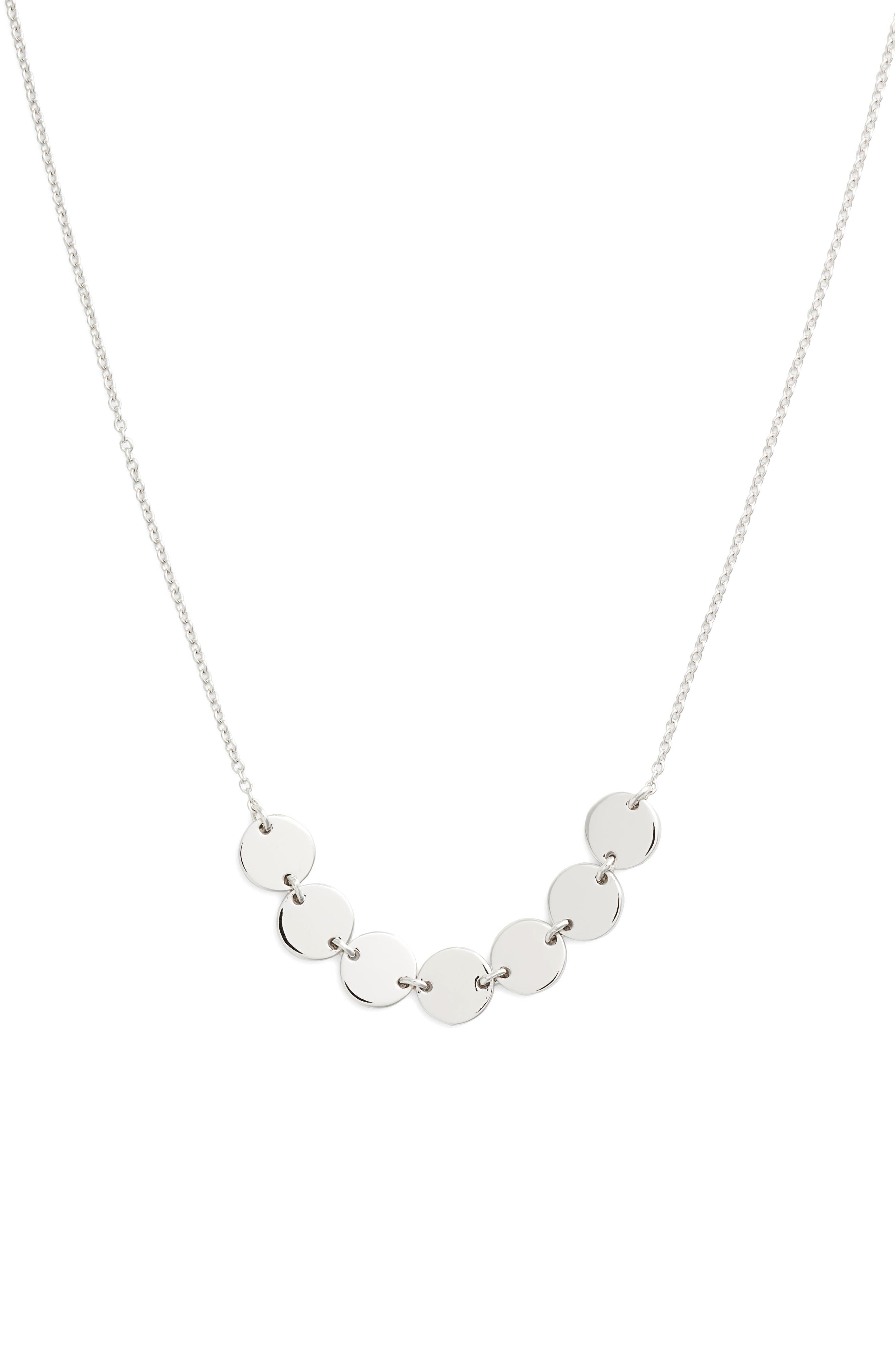 7 Symbols of Joy Choker Necklace, Main, color, SILVER/ CLEAR
