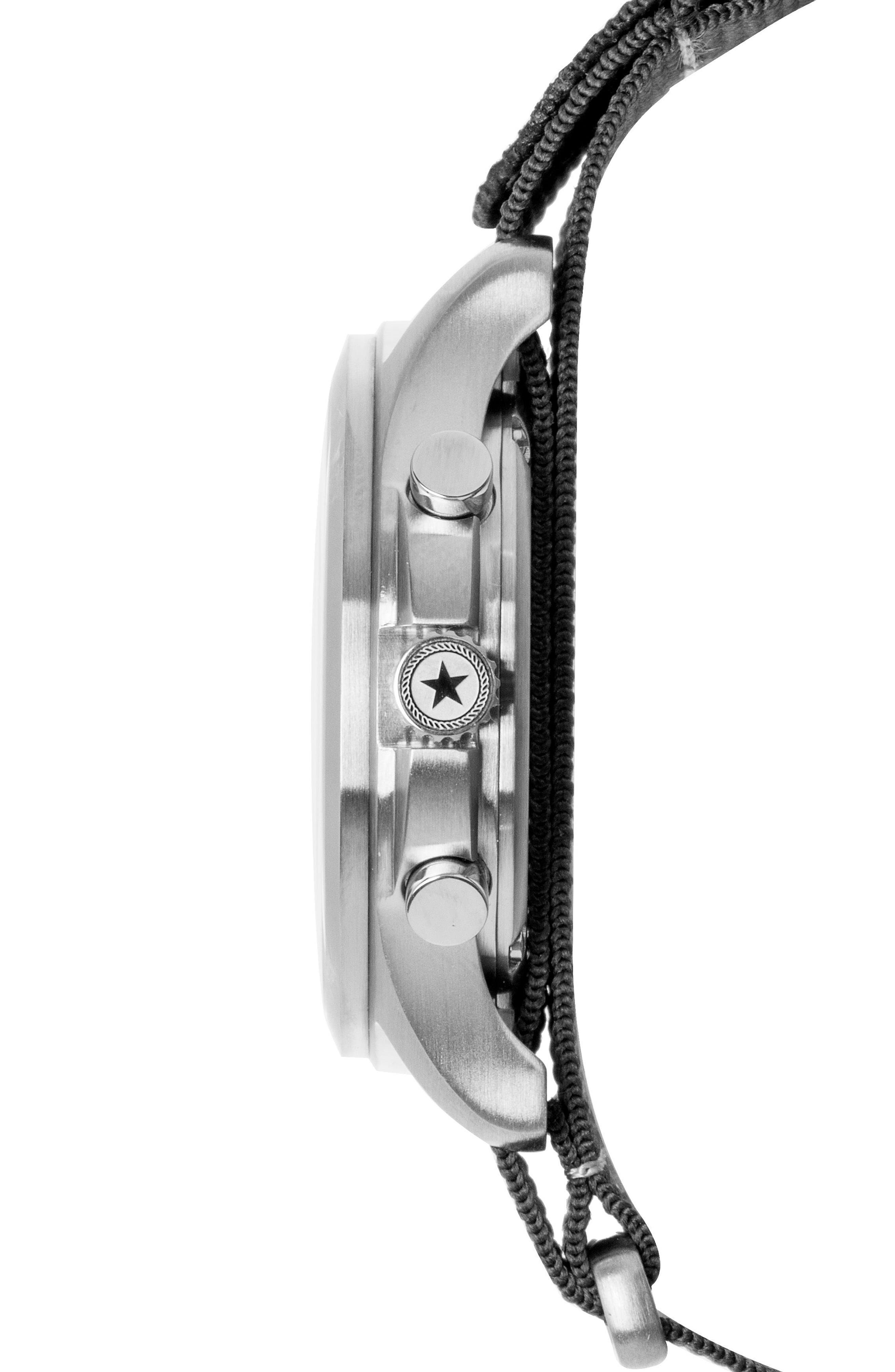 Field Chronograph NATO Strap Watch, 42mm,                             Alternate thumbnail 3, color,                             001