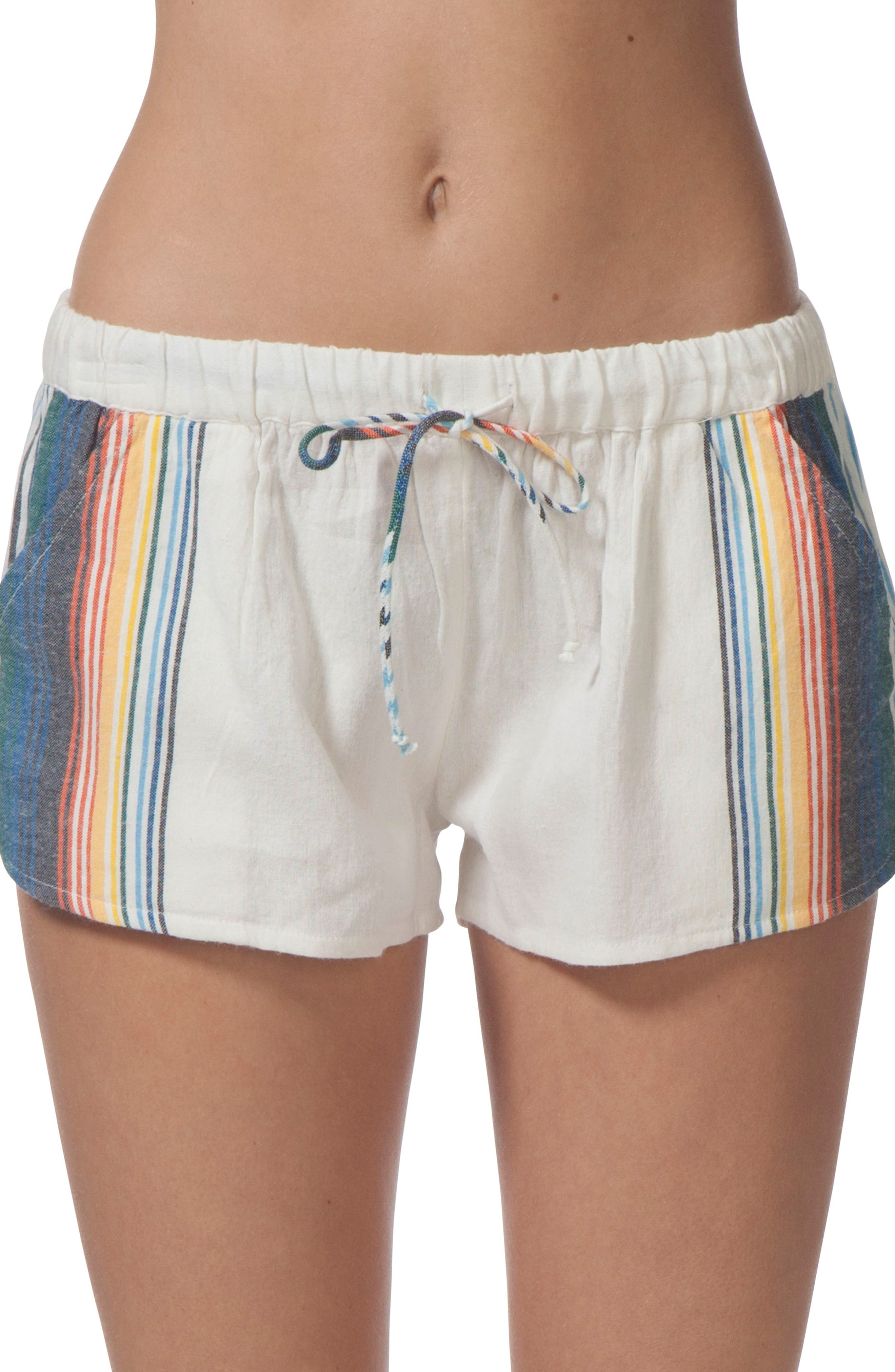 Beach Bazaar Cotton Shorts,                             Main thumbnail 1, color,                             111