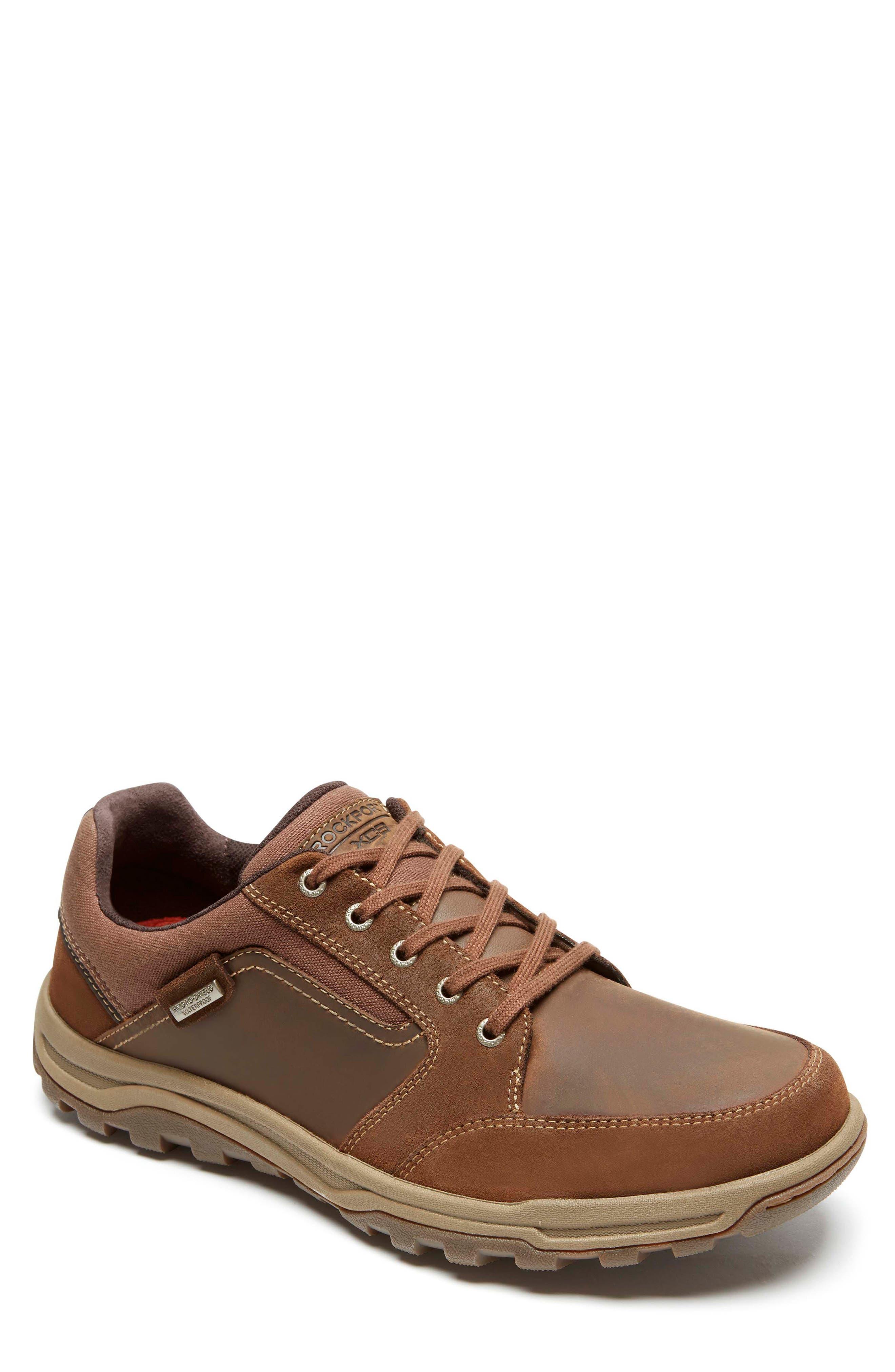 Harlee Waterproof Sneaker,                         Main,                         color, TAN LEATHER