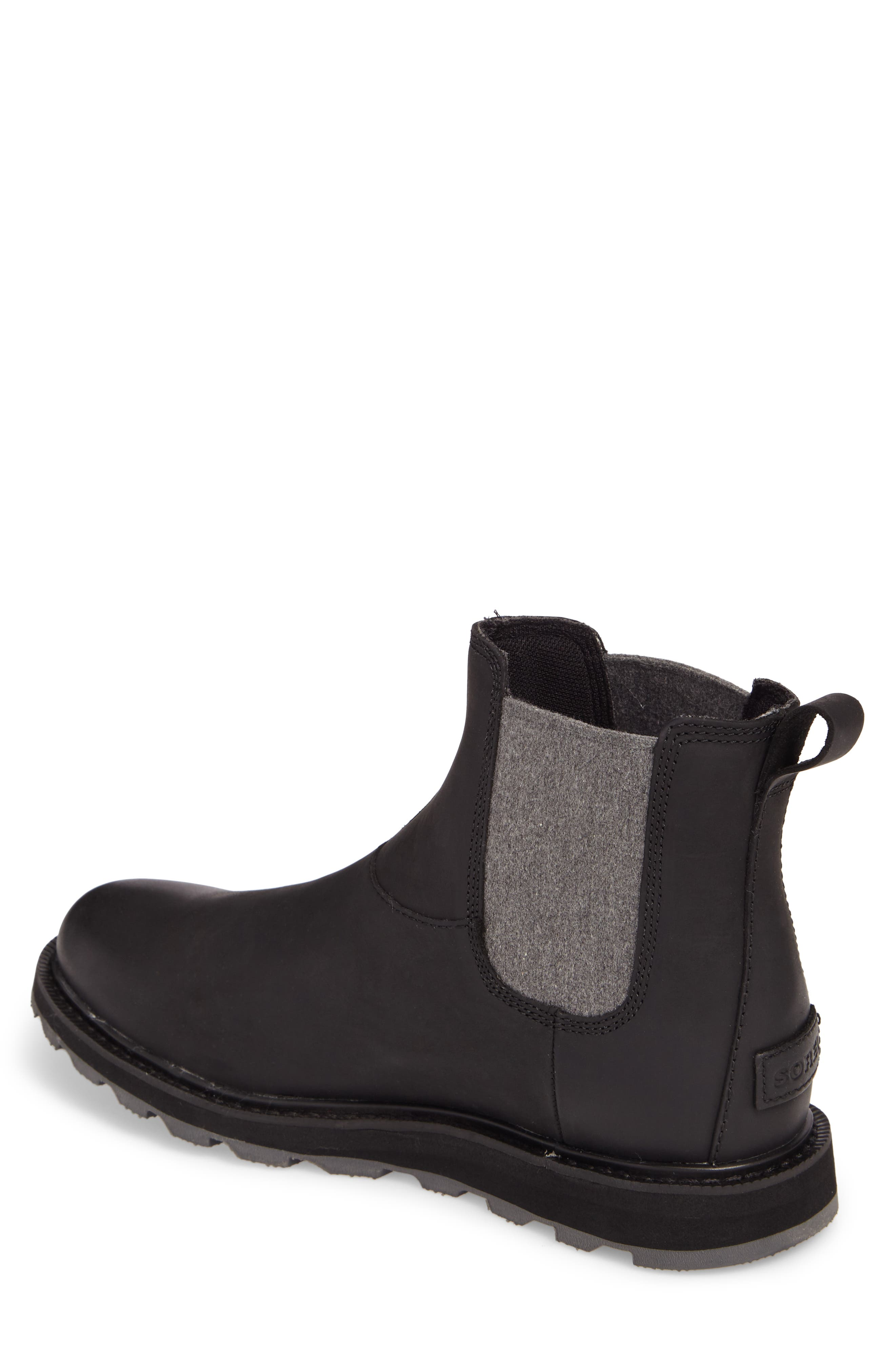 Madson Waterproof Chelsea Boot,                             Alternate thumbnail 2, color,                             BLACK