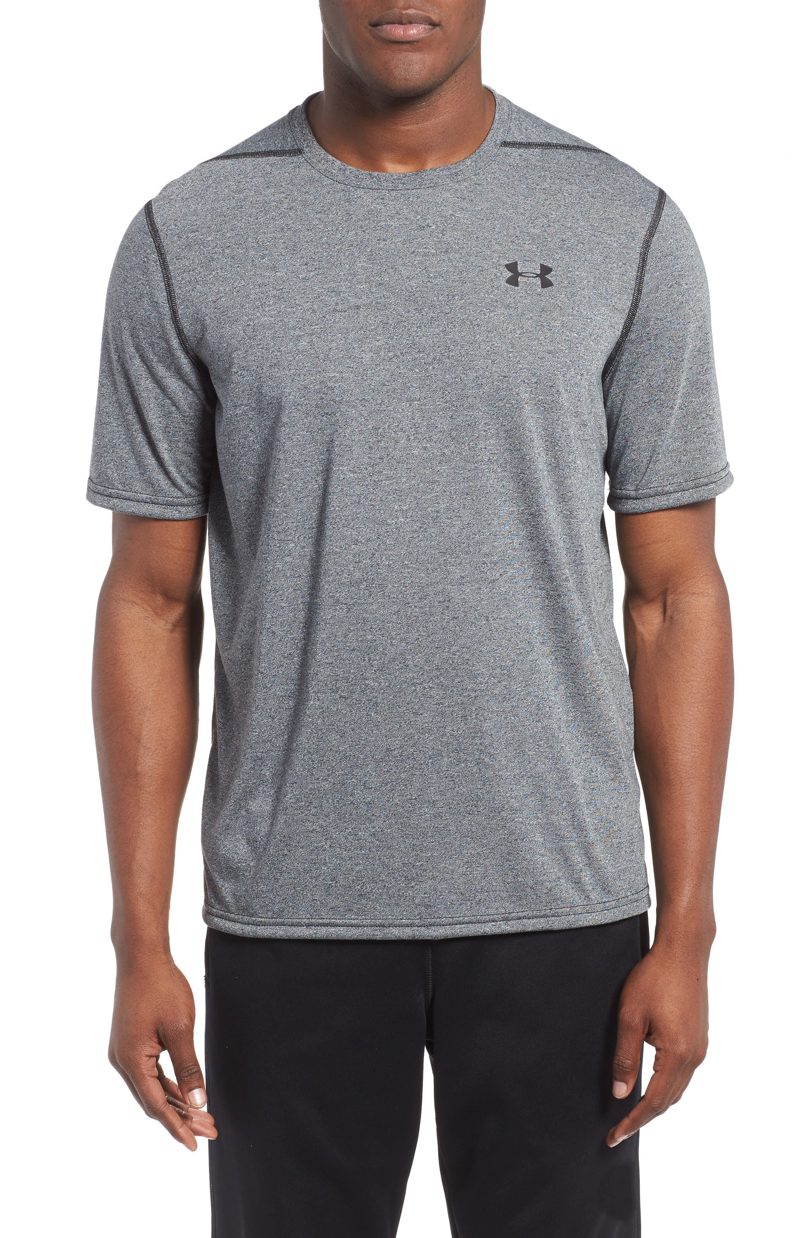 Regular Fit Threadborne T-Shirt,                         Main,                         color, BLACK TWIST