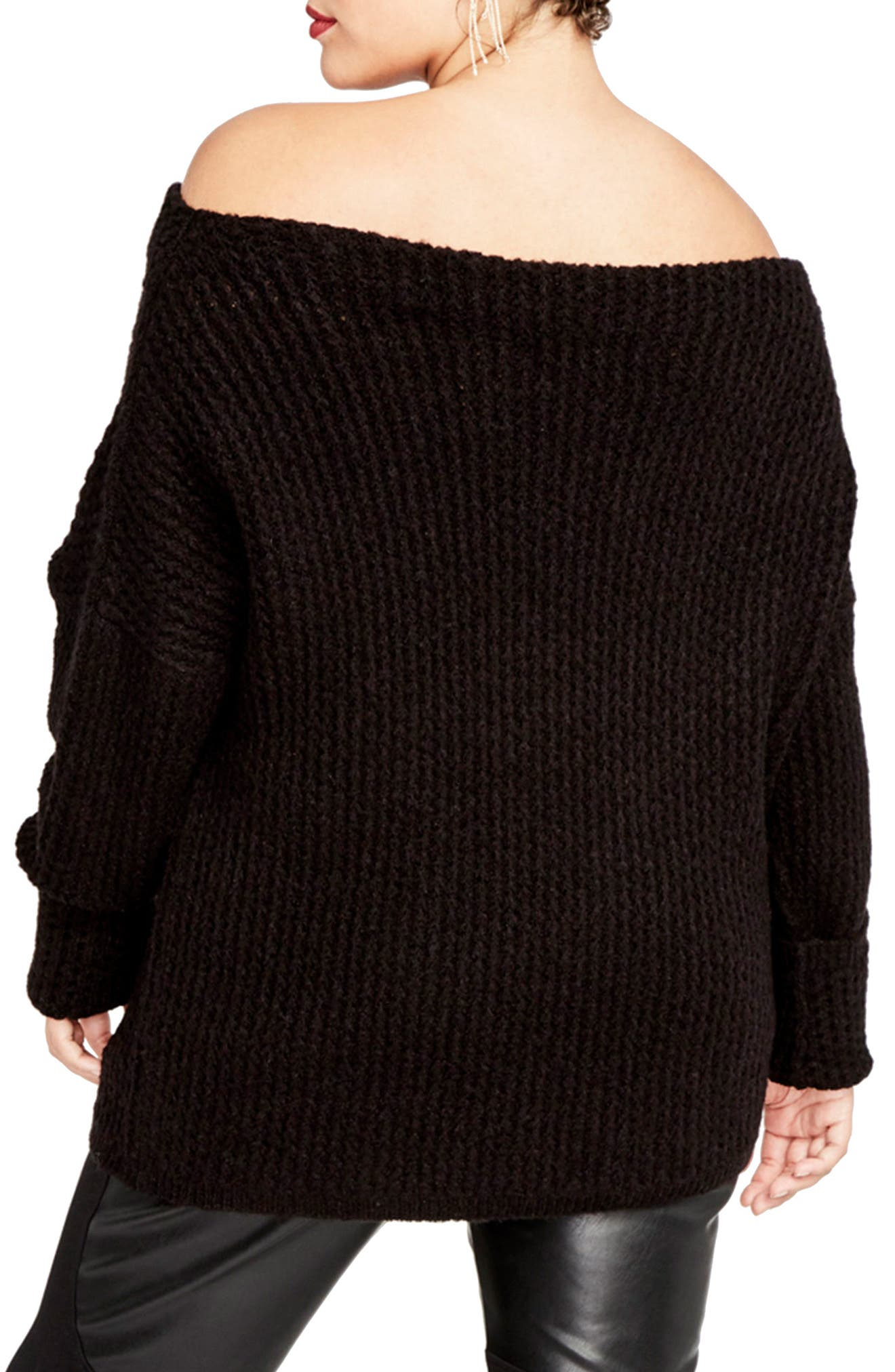 Off the Shoulder Sweater,                             Alternate thumbnail 2, color,                             001