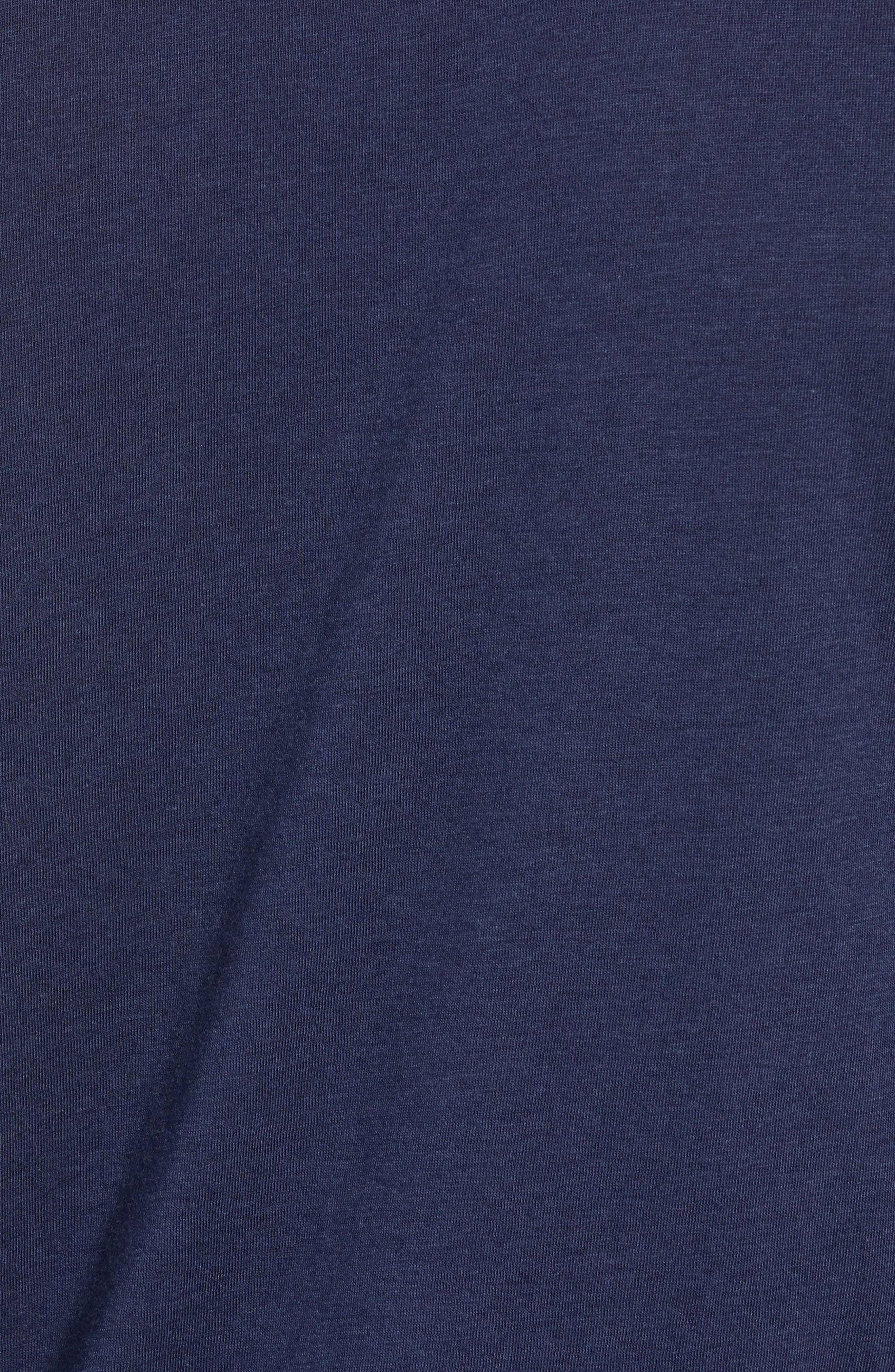 The Ultimate Long Sleeve Shirt,                             Alternate thumbnail 5, color,                             SOLID NAVY TRIBLEND