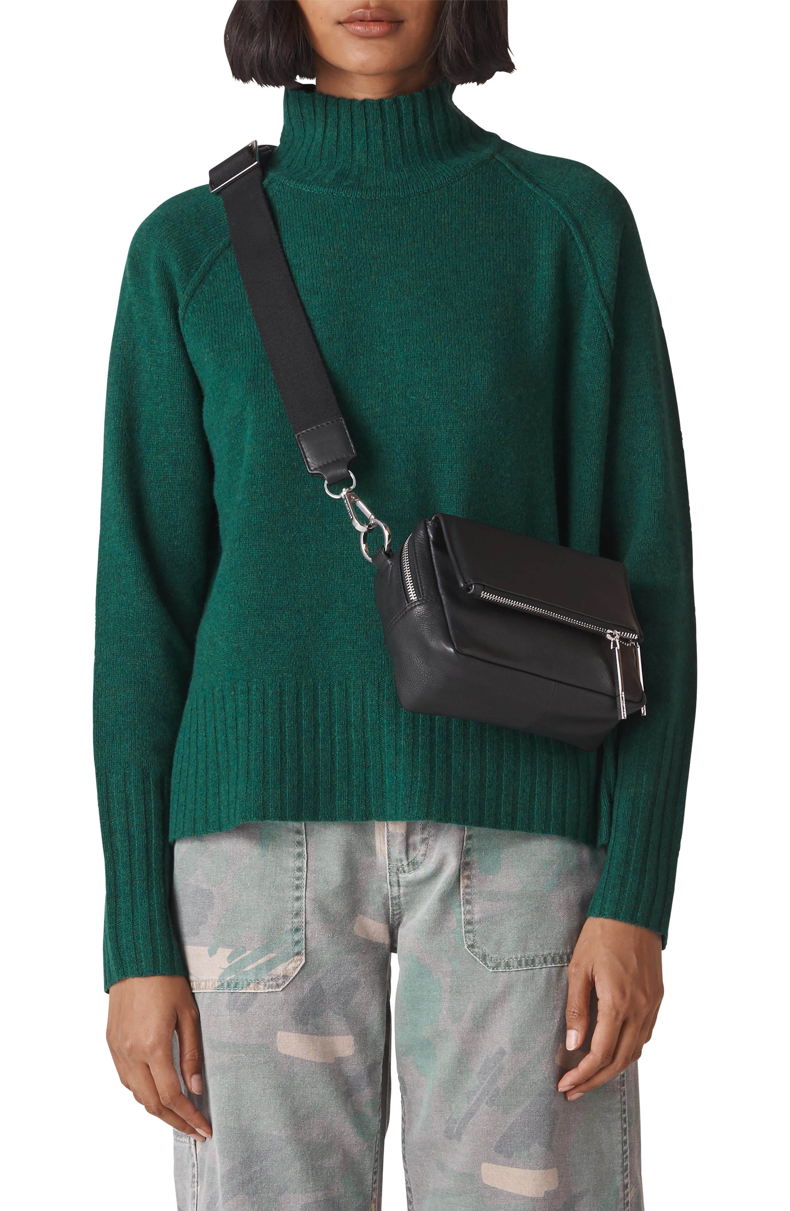 Merino Wool Sweater,                         Main,                         color, GREEN