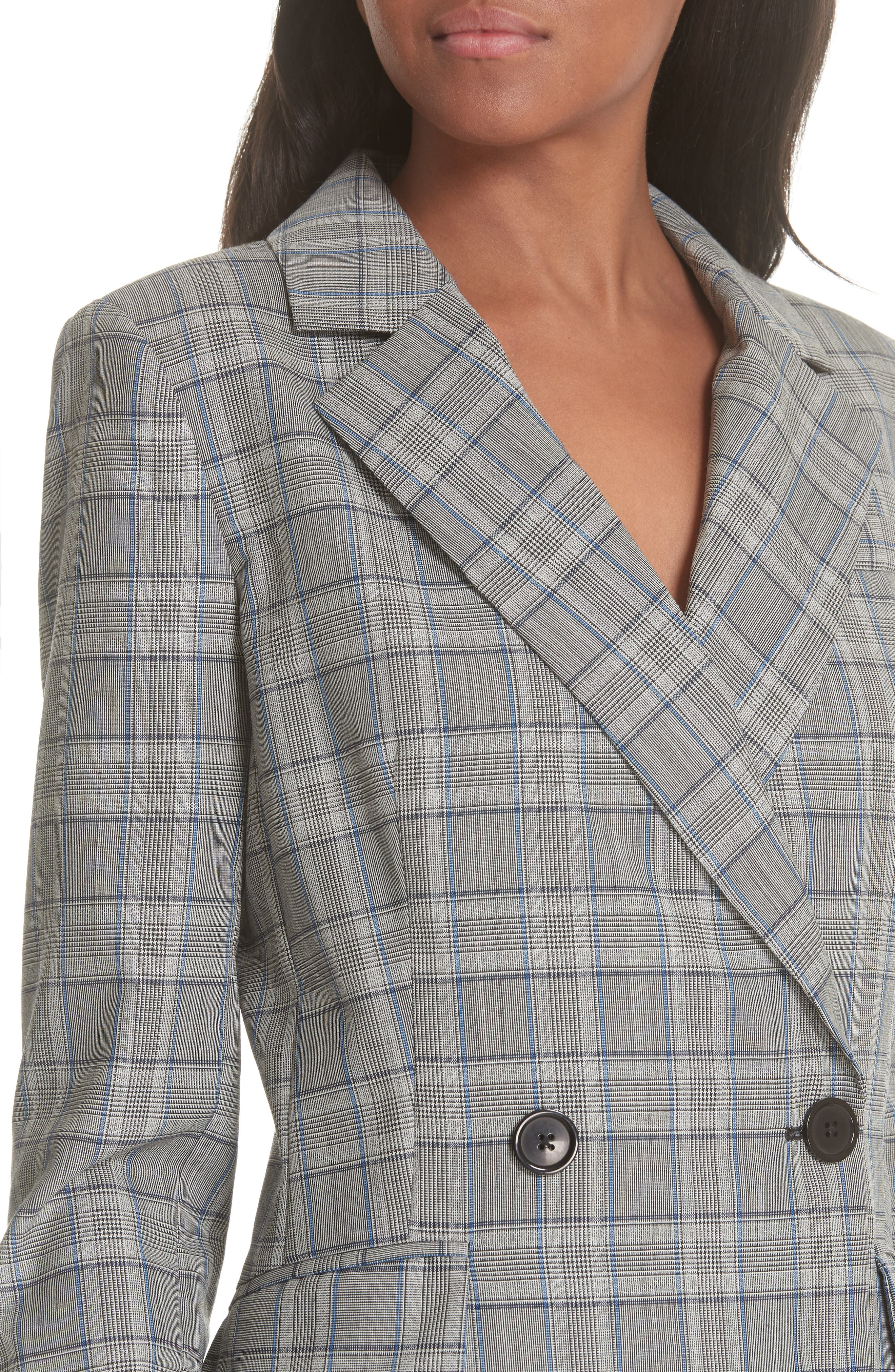 Cotton Suiting Blazer Dress,                             Alternate thumbnail 4, color,                             087