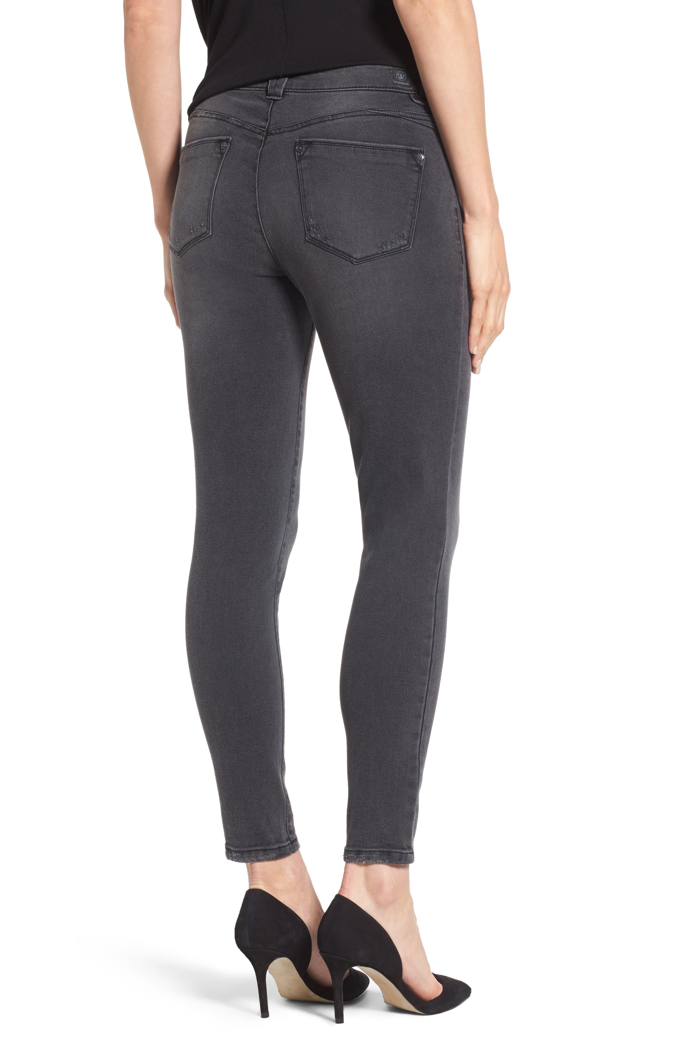 Skinny Ankle Jeans,                             Alternate thumbnail 2, color,                             020