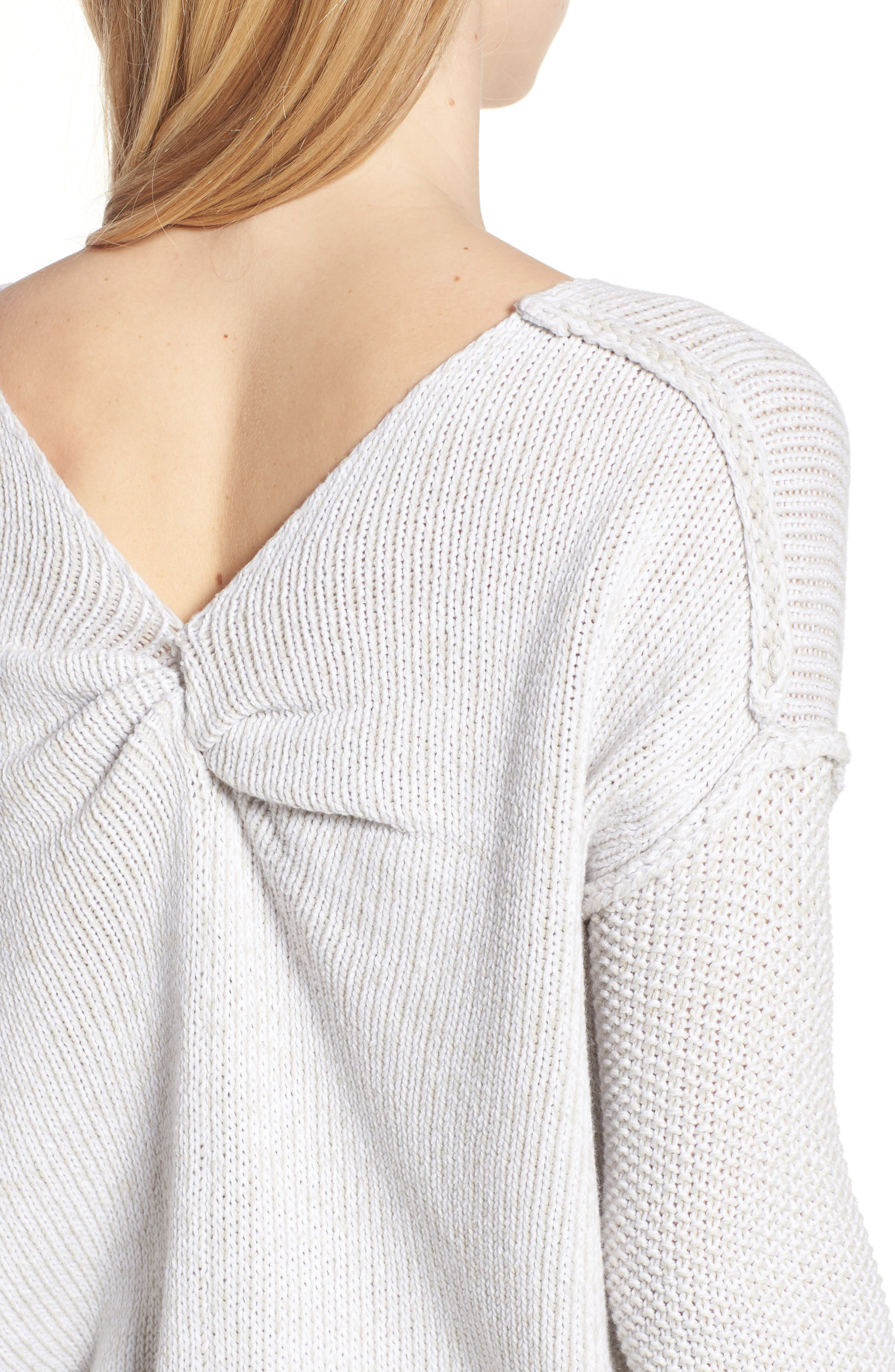 Lola Reversible Twist Sweater,                             Alternate thumbnail 4, color,                             100
