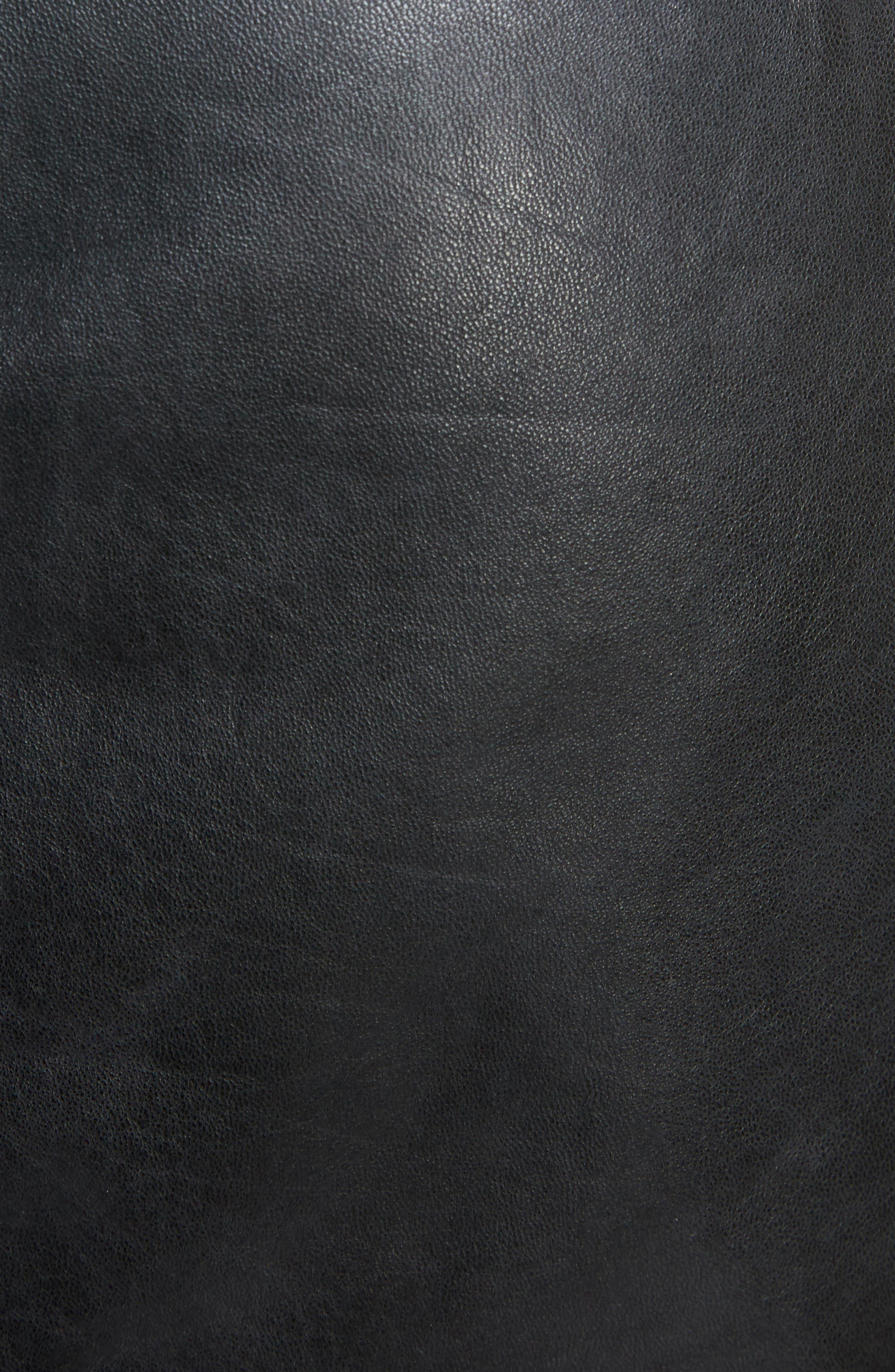 Isabel Marant Étoile Gritanny Tied Leather Skirt,                             Alternate thumbnail 5, color,                             001