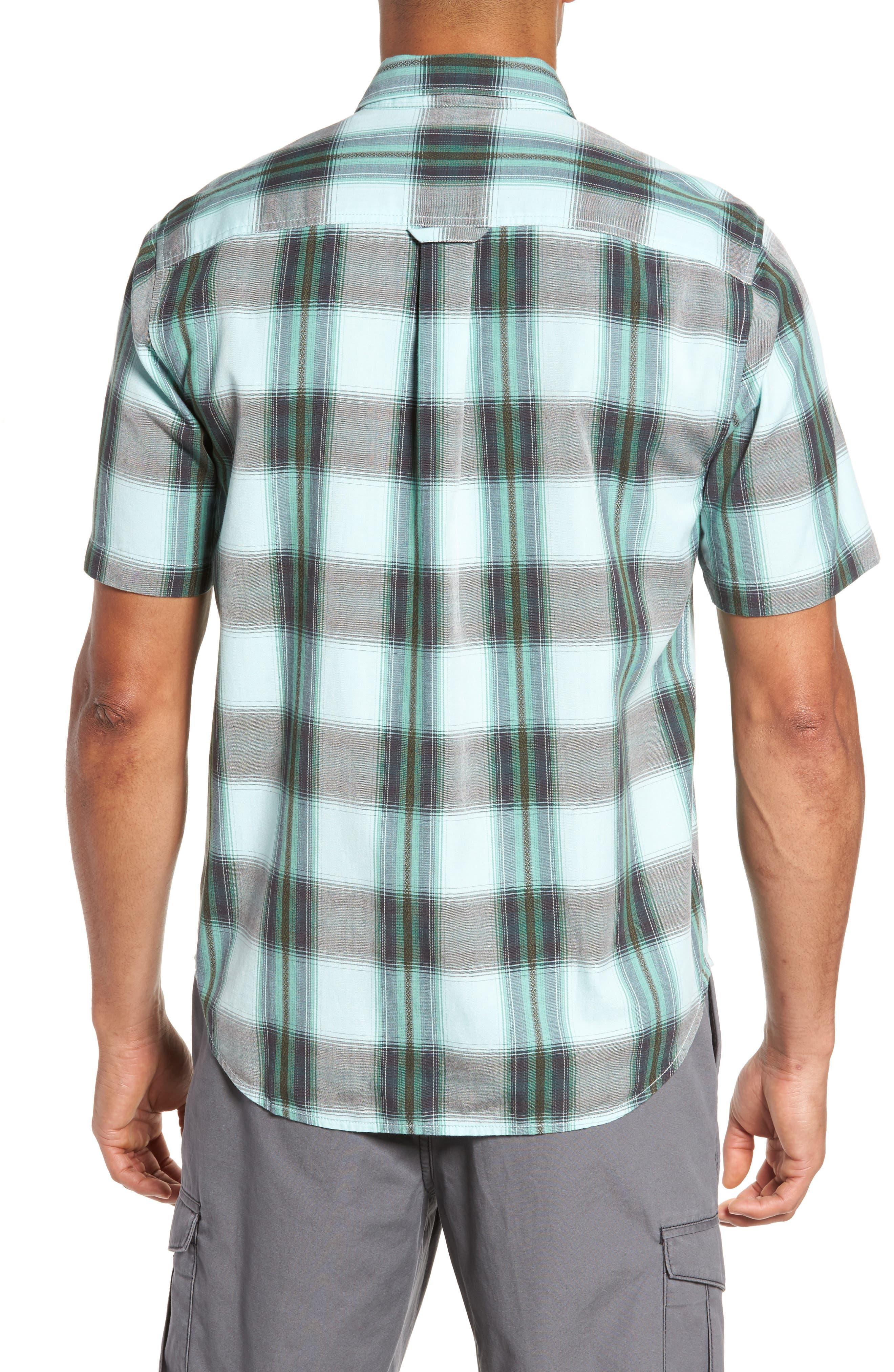 Biscayne Plaid Regular Fit Sport Shirt,                             Alternate thumbnail 2, color,                             350