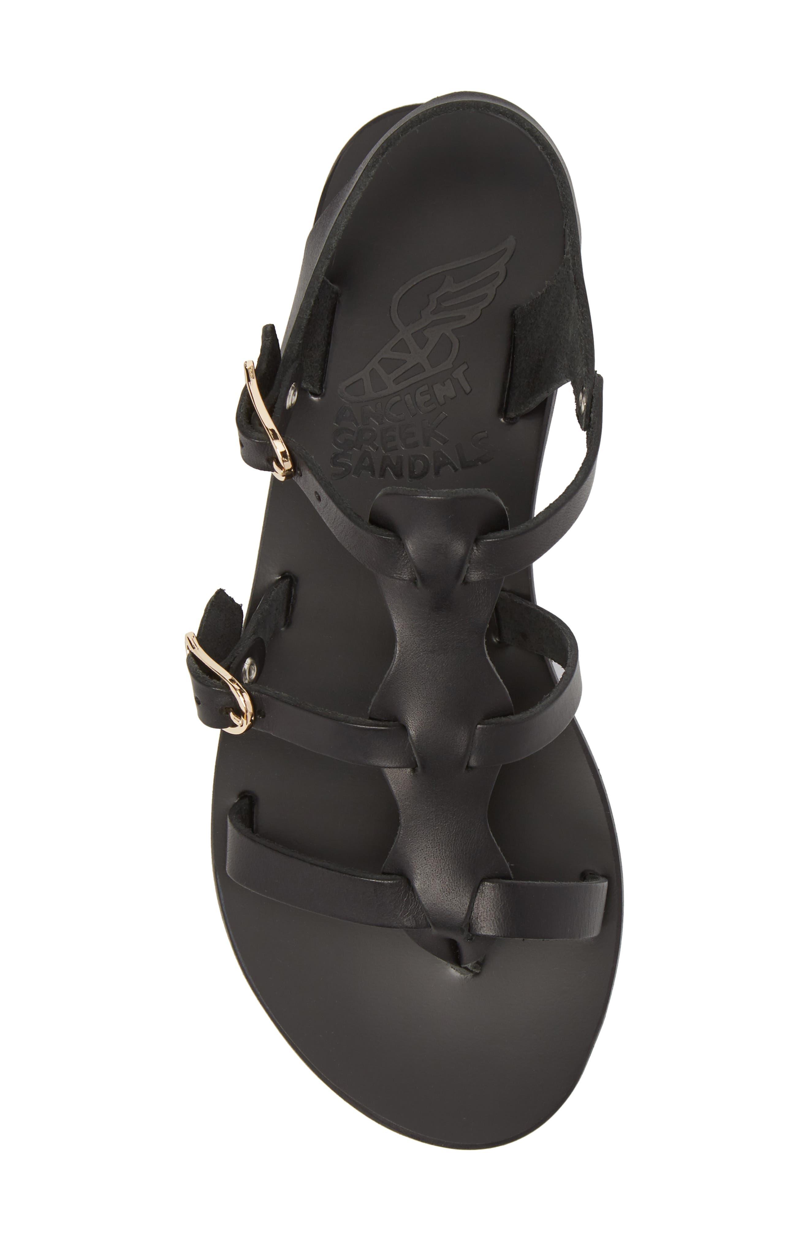 T-Strap Sandal,                             Alternate thumbnail 5, color,                             BLACK