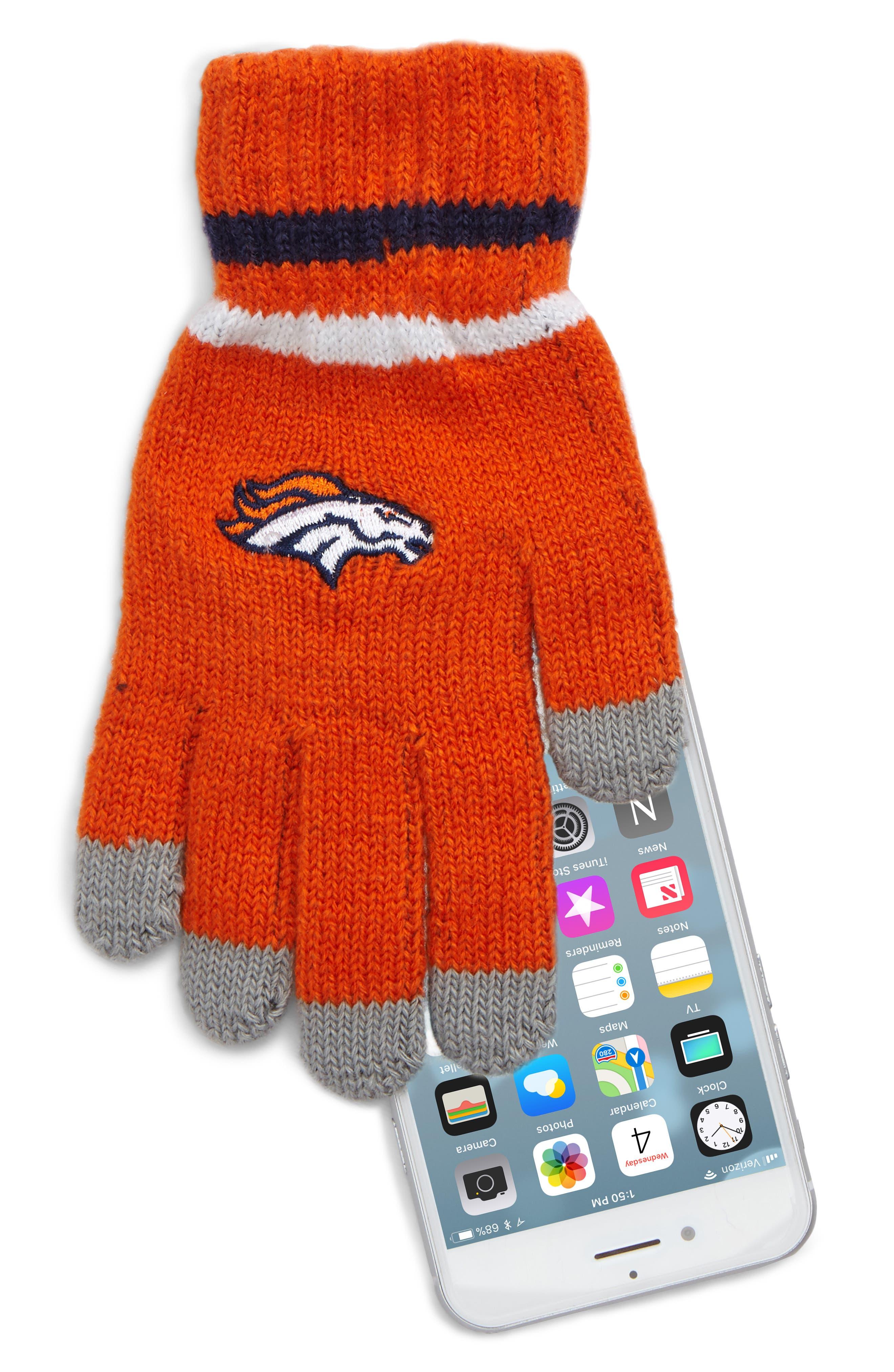 NFL Logo Pom Beanie & Tech Gloves Set,                             Alternate thumbnail 7, color,